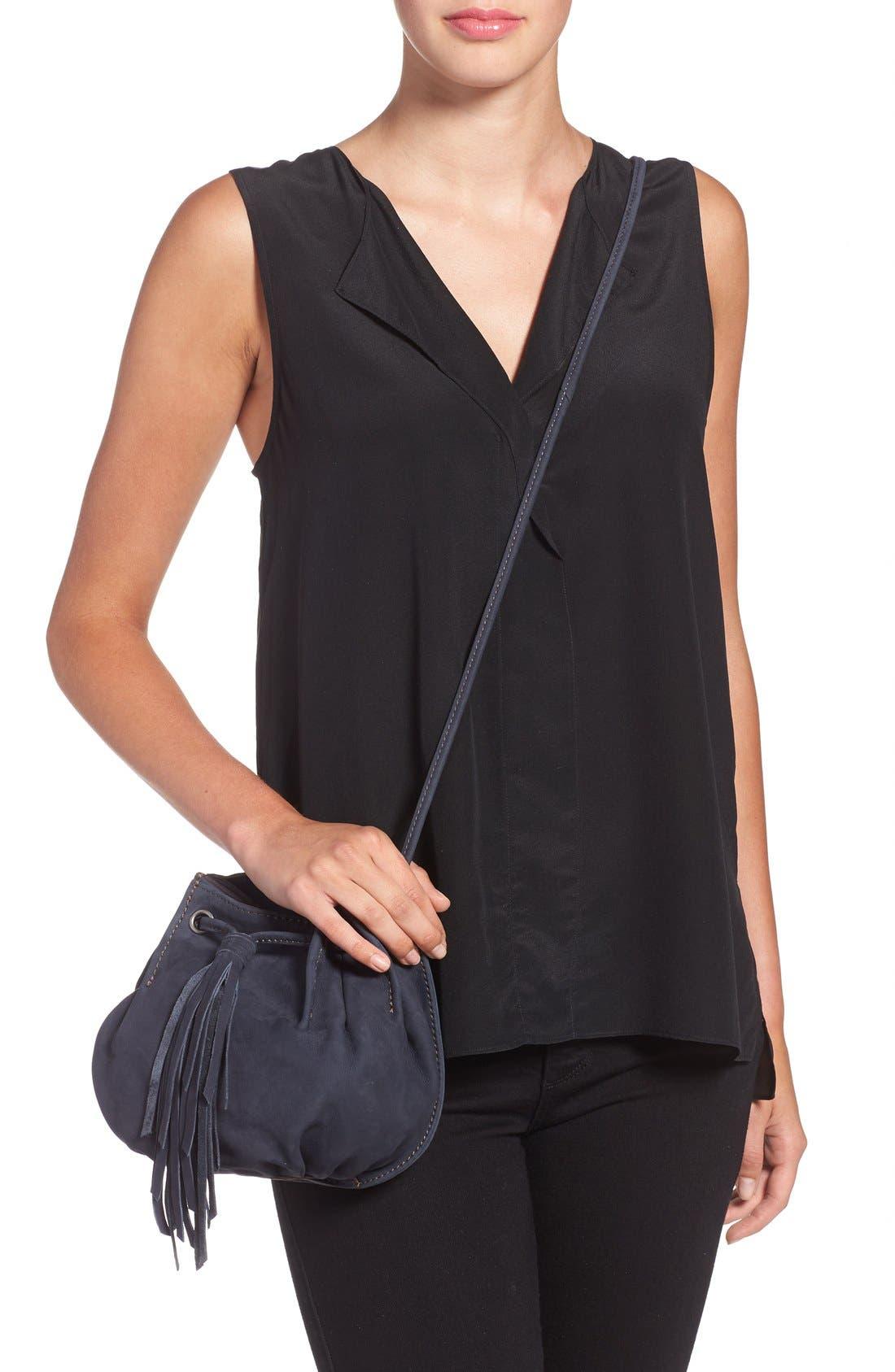 Alternate Image 2  - Treasure&Bond Tasseled Leather Bucket Bag