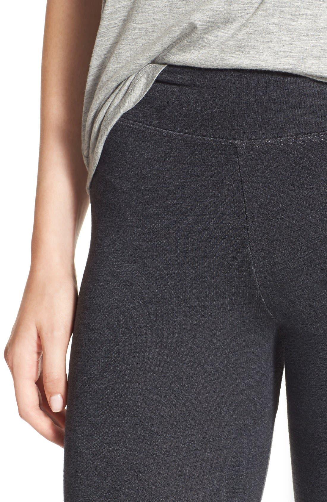 Alternate Image 4  - Sundry Stripe Detail Yoga Pants