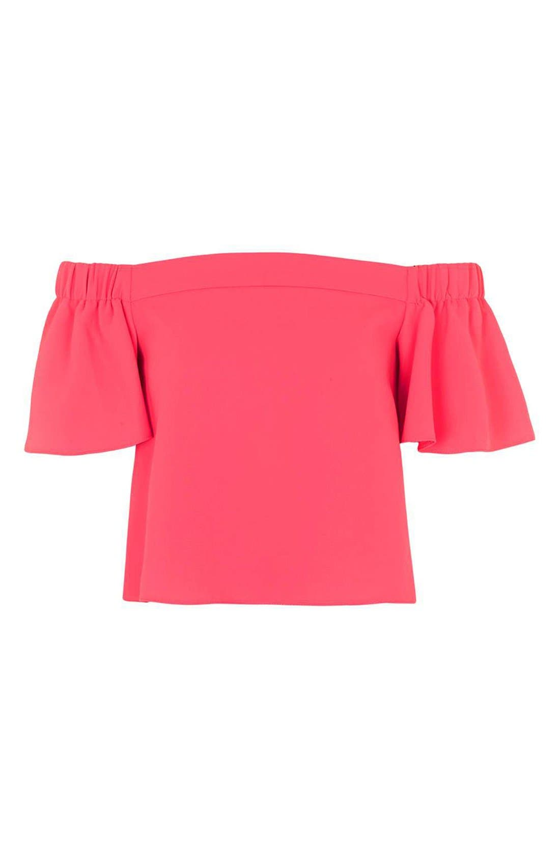 Alternate Image 4  - Topshop 'Livi' Off the Shoulder Top (Regular & Petite)