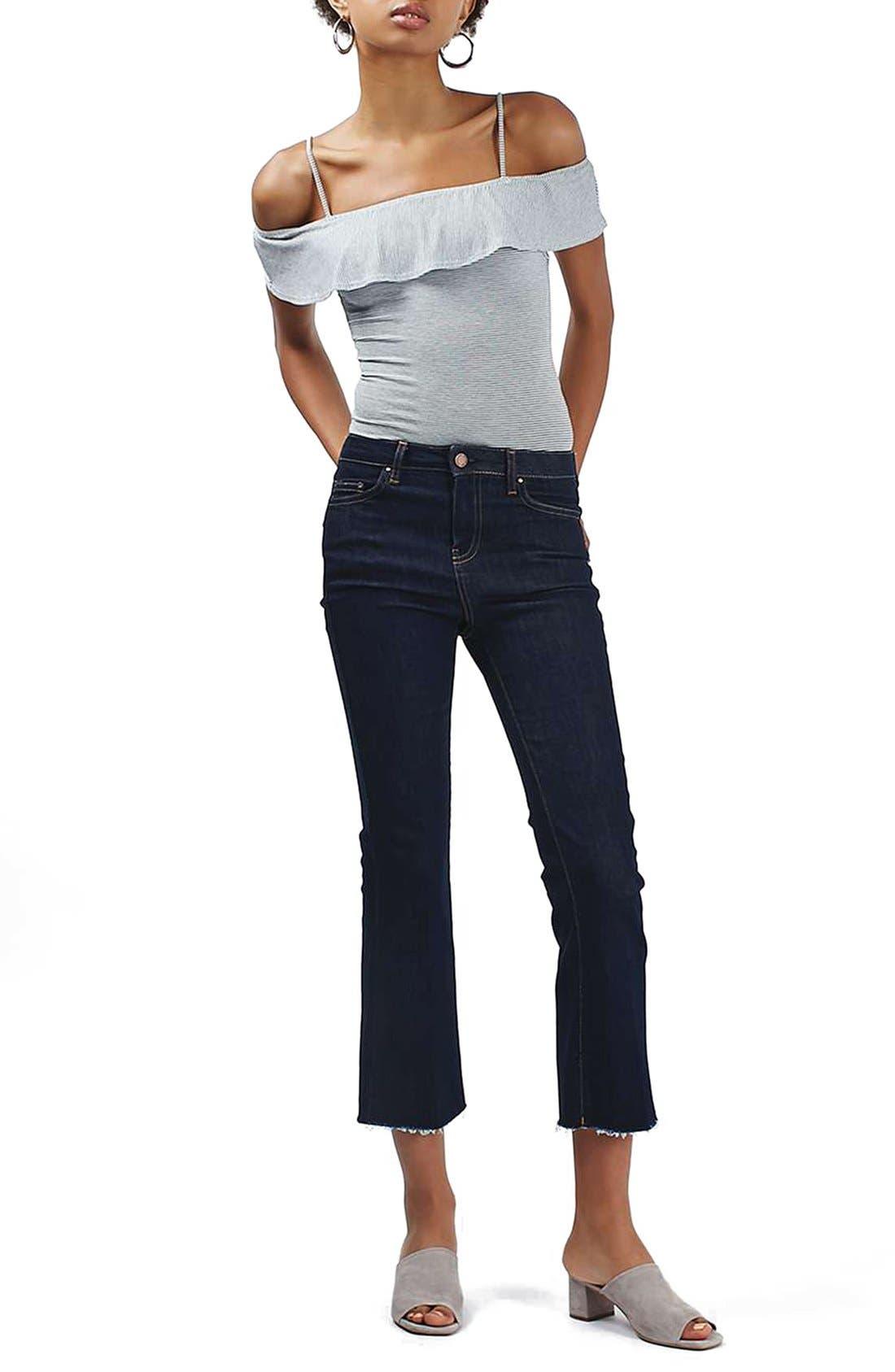Alternate Image 2  - Topshop Stripe Bardot Bodysuit