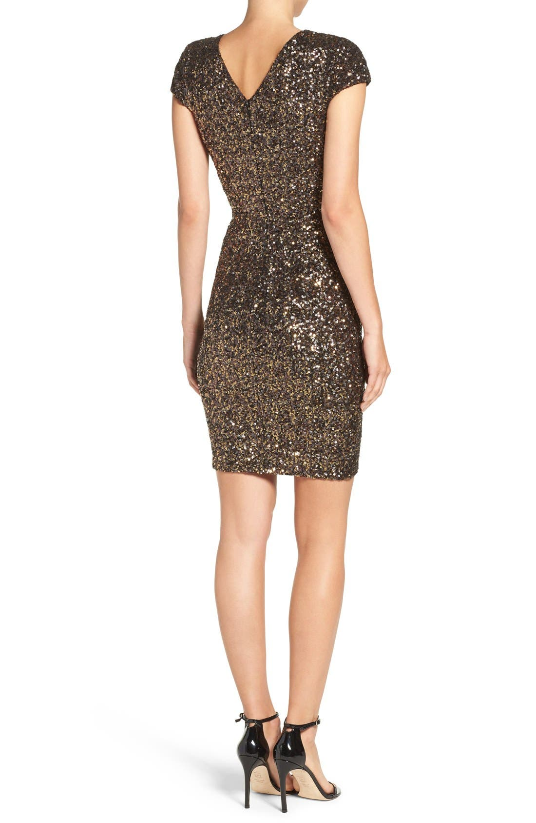 Alternate Image 4  - Dress the Population Zoe Sequin Minidress (Nordstrom Exclusive)