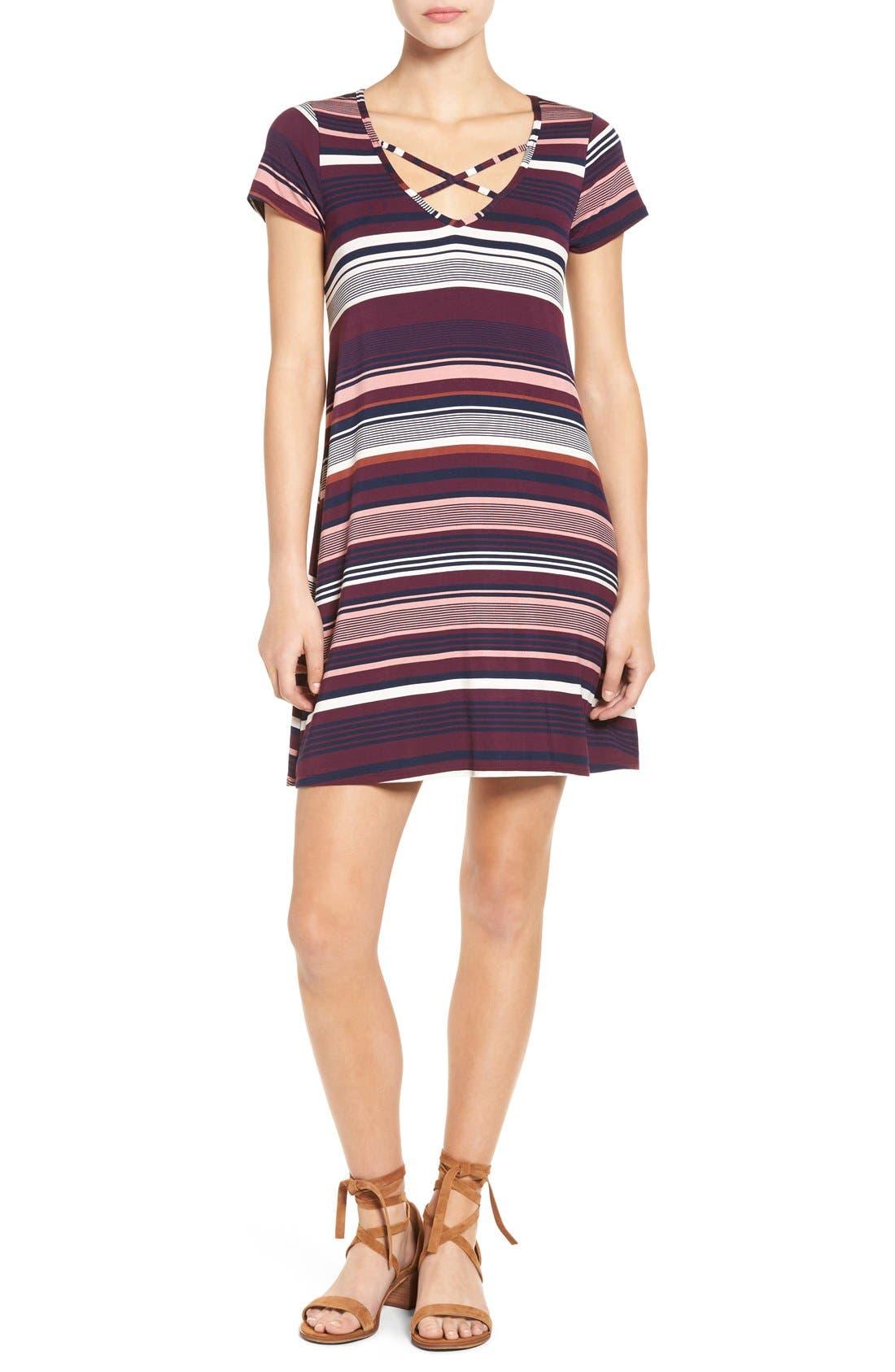 Alternate Image 1 Selected - Socialite Cross Front T-Shirt Dress