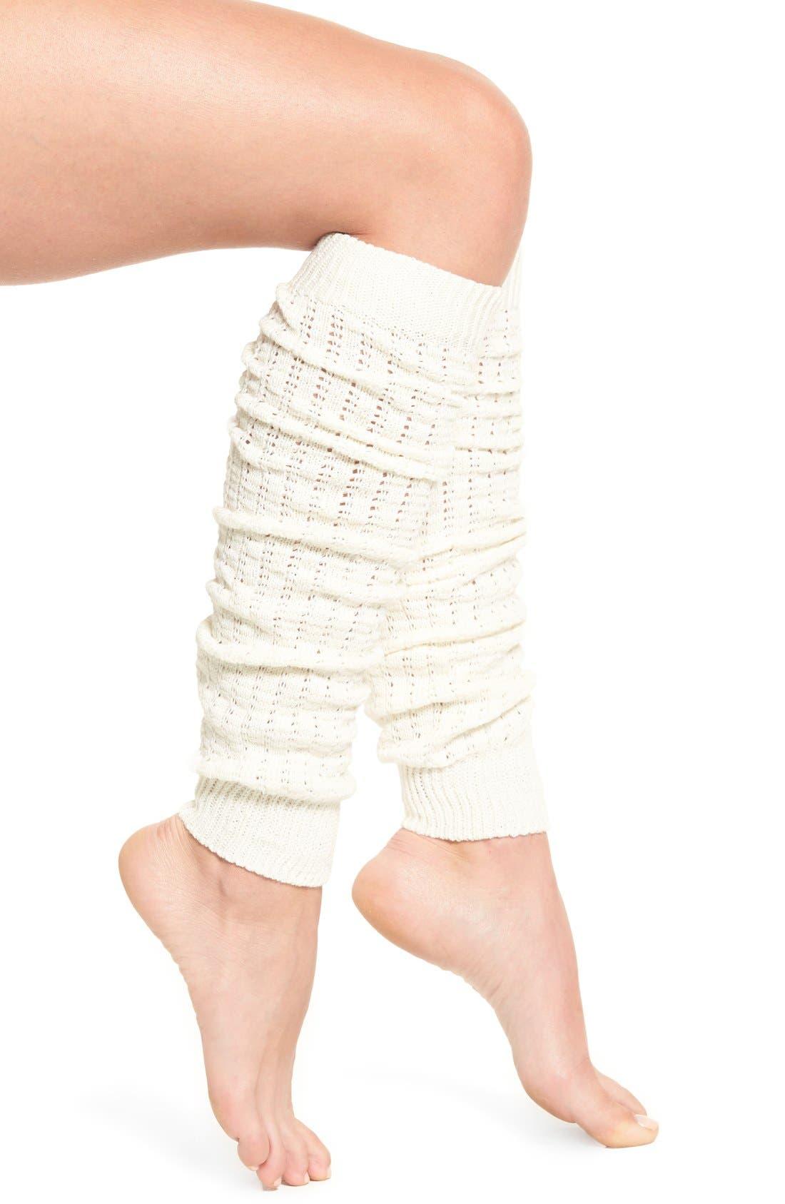 Alternate Image 1 Selected - Hue Open Knit Leg Warmers