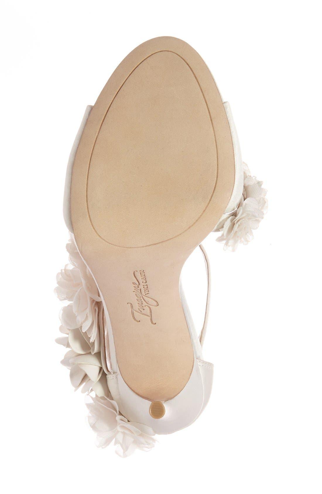 Alternate Image 4  - Imagine by Vince Camuto 'Daphne' Floral Ankle Strap Sandal (Women)