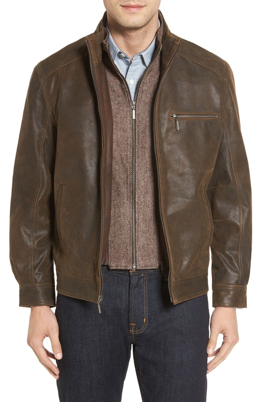 MISSANI LE COLLEZIONI Vintage Lambskin Suede Jacket with