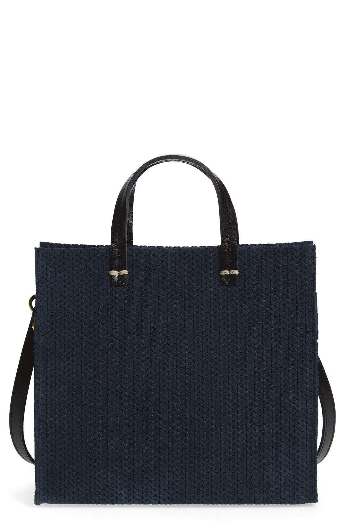 Main Image - Clare V. 'Petite Simple - Marine Rope' Woven Suede Tote