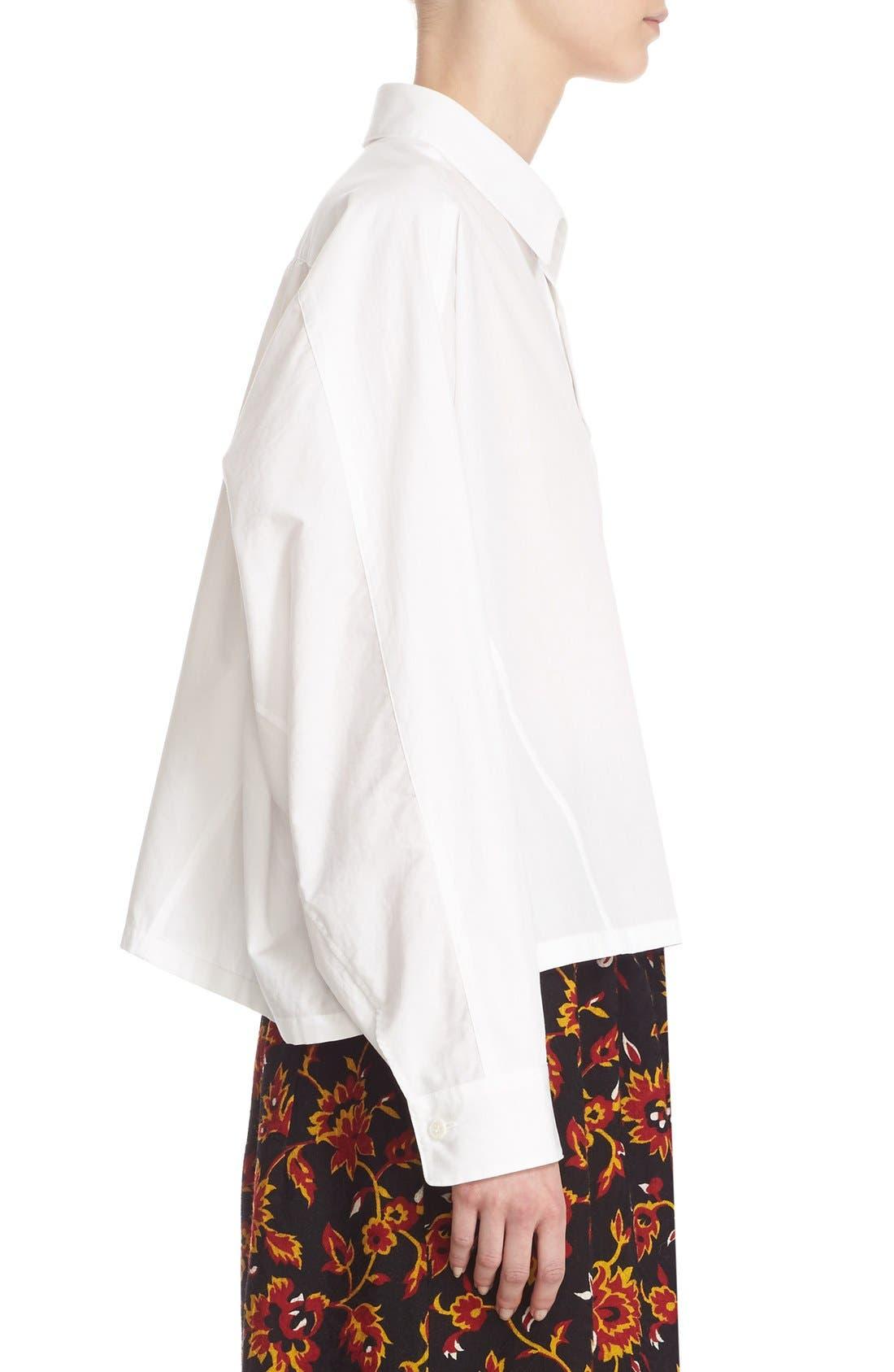 Alternate Image 5  - Y's by Yohji Yamamoto Dolman Sleeve Cotton Blouse