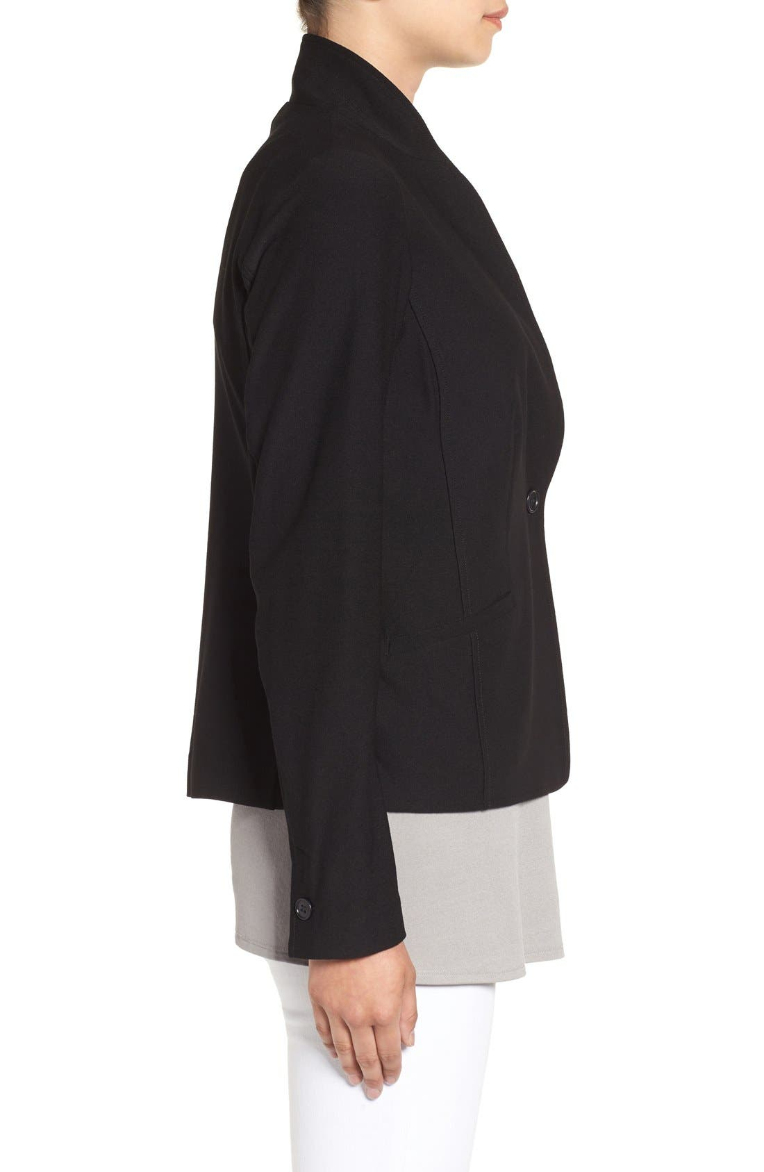 Alternate Image 3  - Eileen Fisher Washable Stretch Crepe Jacket (Regular & Petite) (Nordstrom Exclusive)