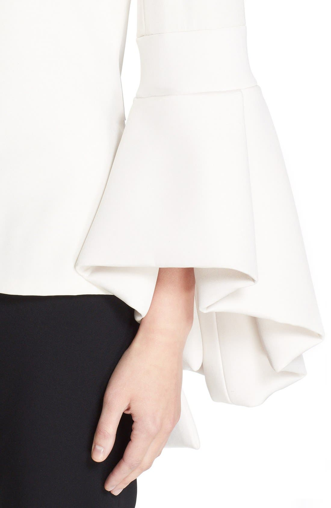 Alternate Image 5  - Brandon Maxwell Bell Sleeve Peplum Back Top