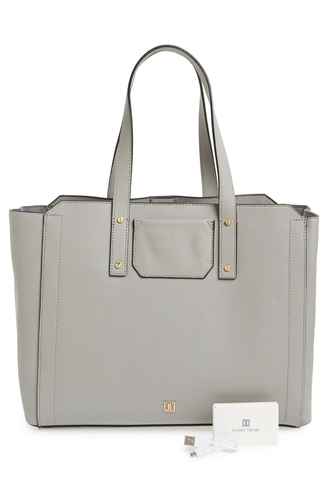 Alternate Image 3  - Ivanka Trump 'Soho Solutions' Leather Work Tote with Battery Charging Pack