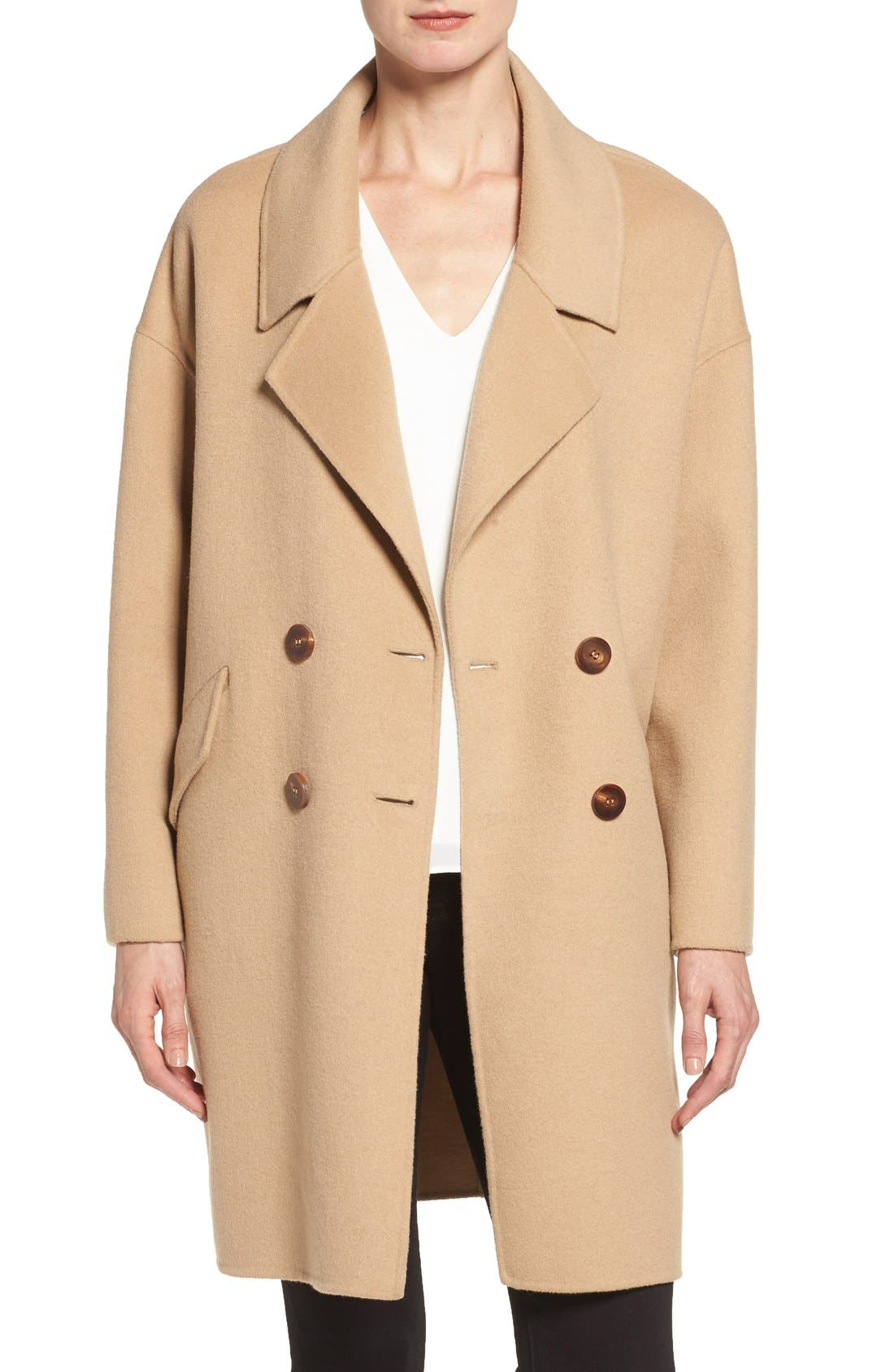 Alternate Image 1 Selected - Diane von Furstenberg Double Face Double Breasted Walking Coat
