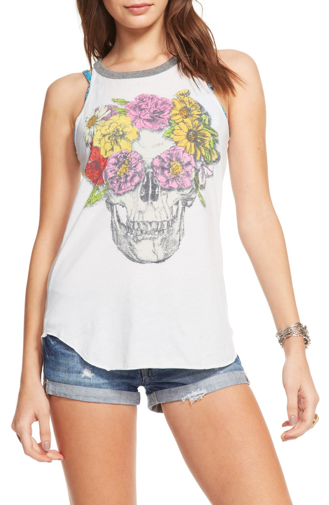 Main Image - Chaser 'Flower Crown' Jersey Ringer Tank