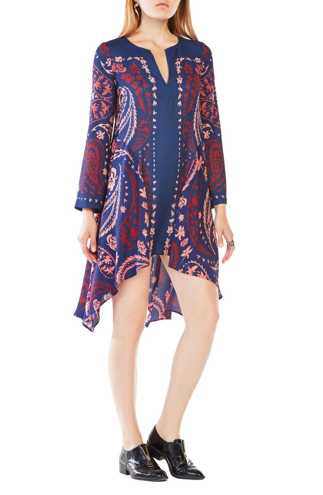 BCBGMAXAZRIA 'Geena' Handkerchief Hem Dress