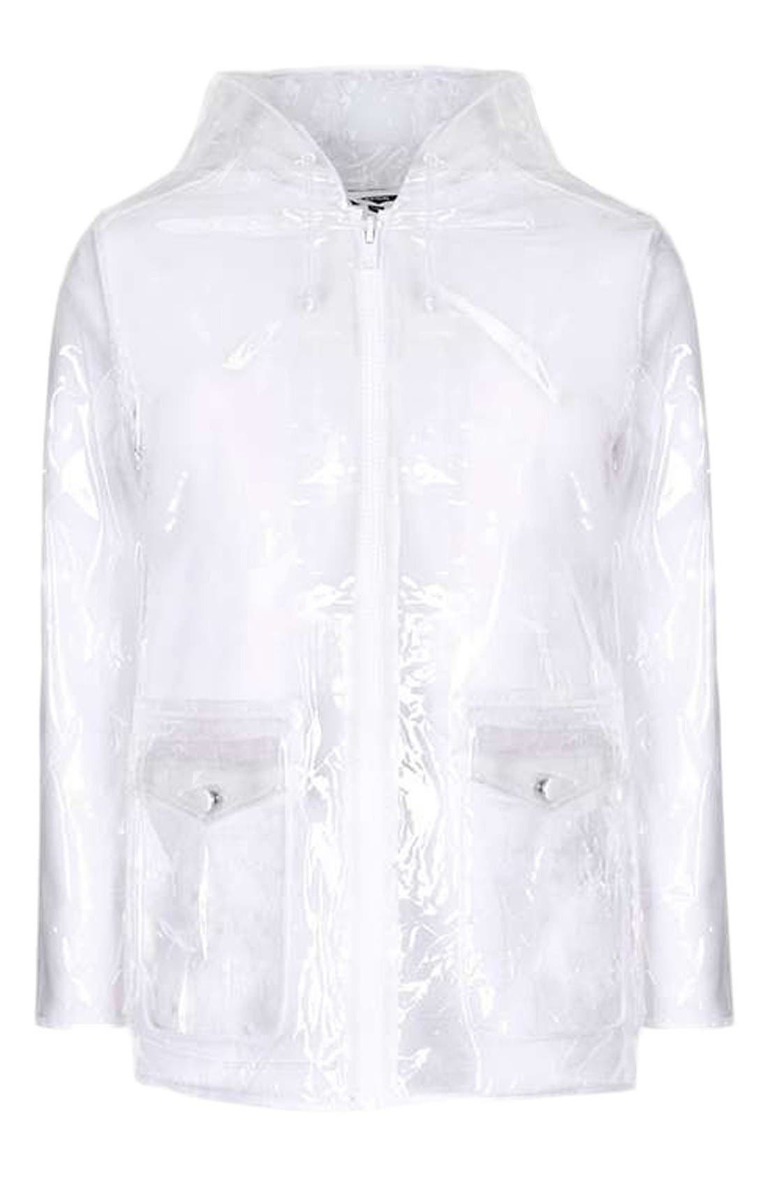 Alternate Image 4  - Topshop Clear Plastic Rain Jacket