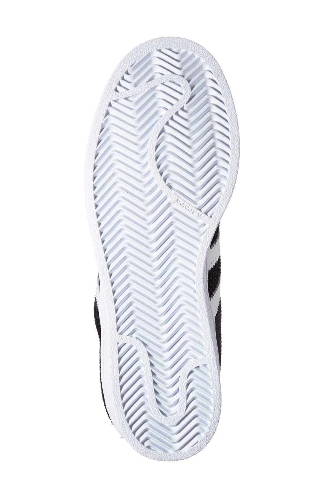 Alternate Image 4  - adidas 'Superstar' Sneaker (Big Kid)