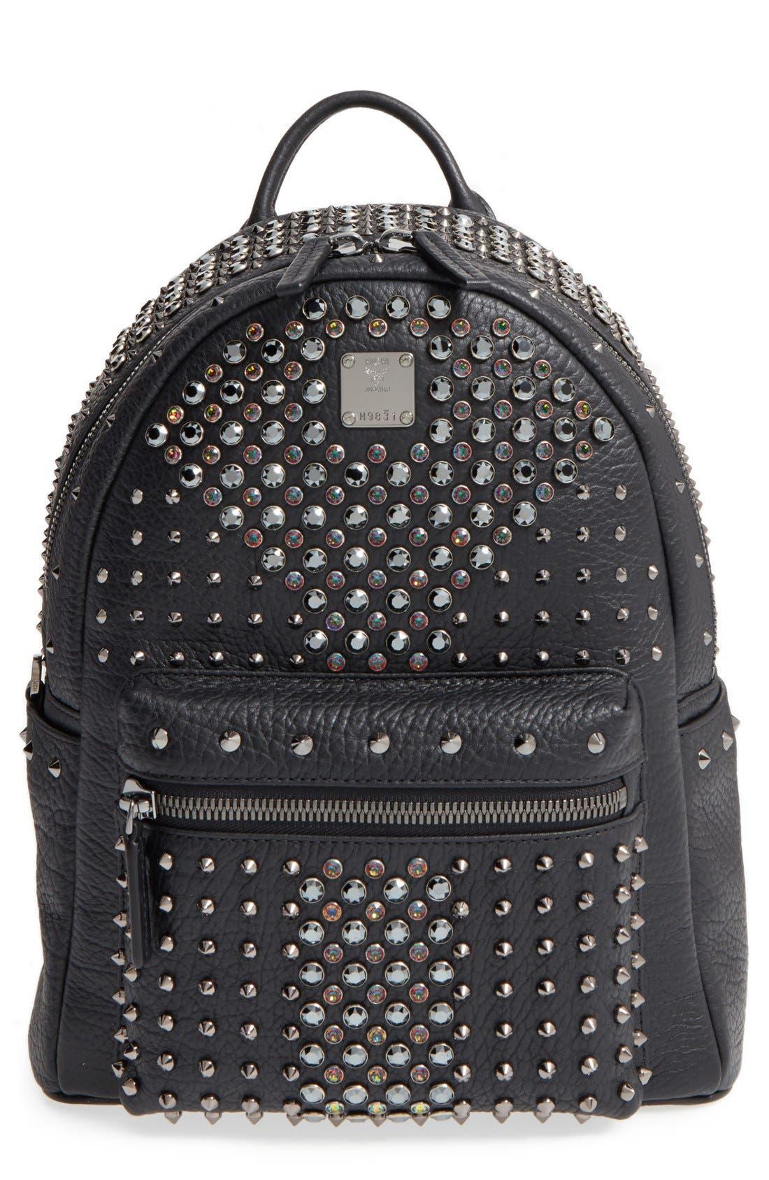 Main Image - MCM 'Small Stark Special' Swarovski Crystal Embellished Leather Backpack