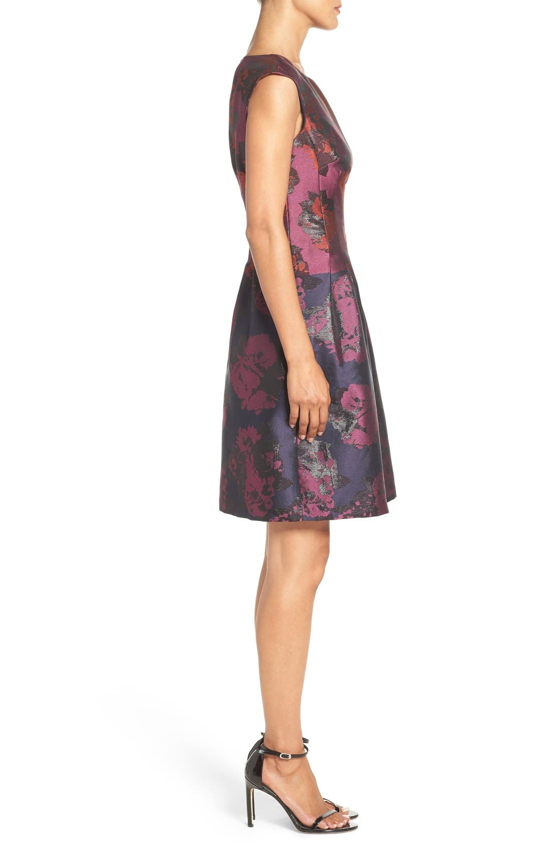 Alternate Image 3  - Vince Camuto Jacquard Fit & Flare Dress (Regular & Petite)