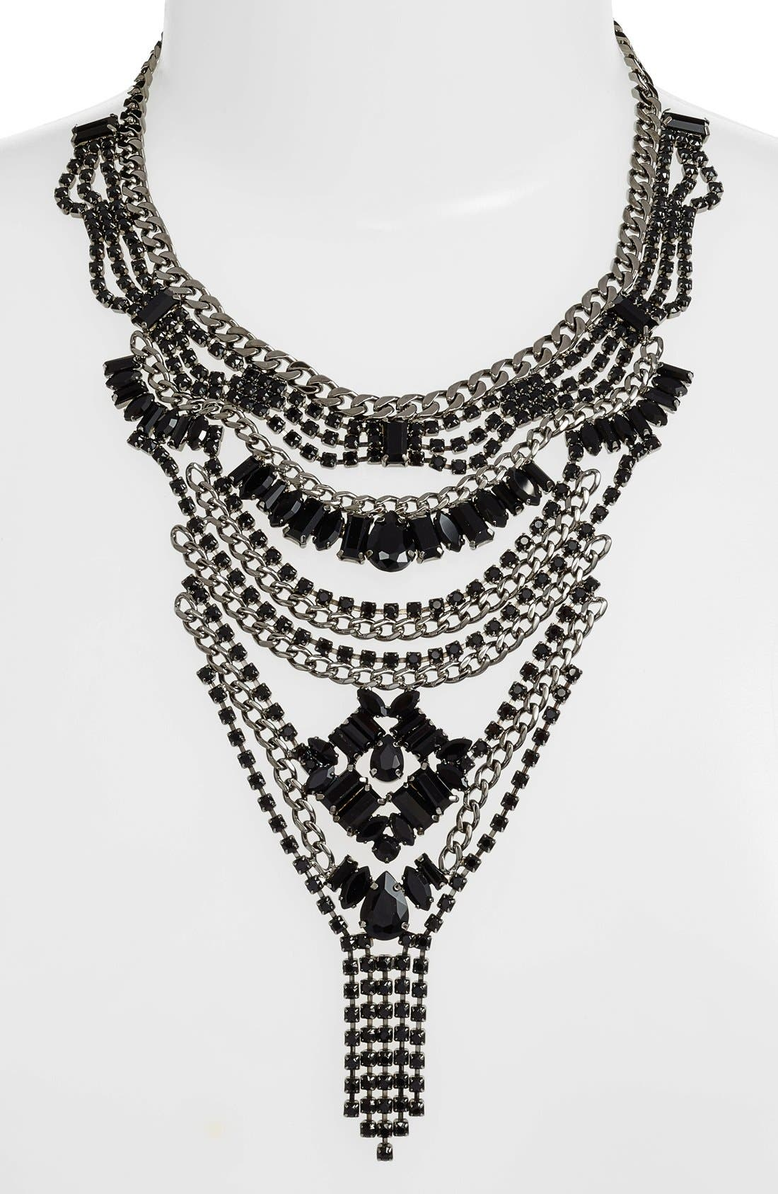 Alternate Image 2  - Cristabelle Multilayered Crystal Bib Necklace