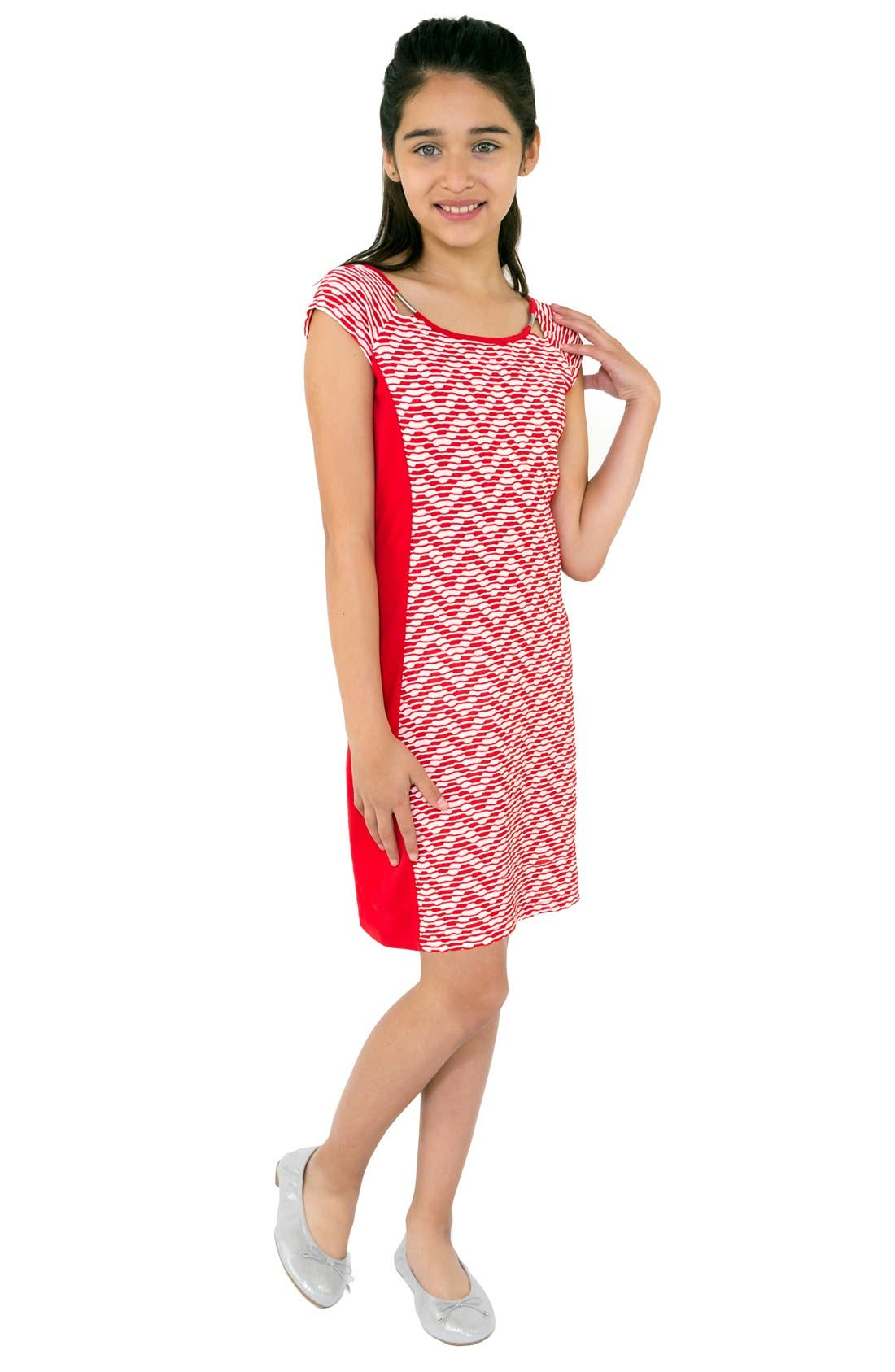 BLUSH BY US ANGELS Print Sheath Dress