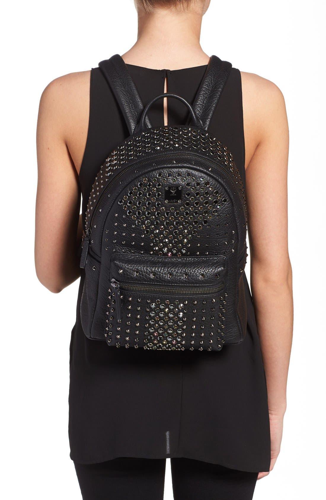Alternate Image 2  - MCM 'Small Stark Special' Swarovski Crystal Embellished Leather Backpack