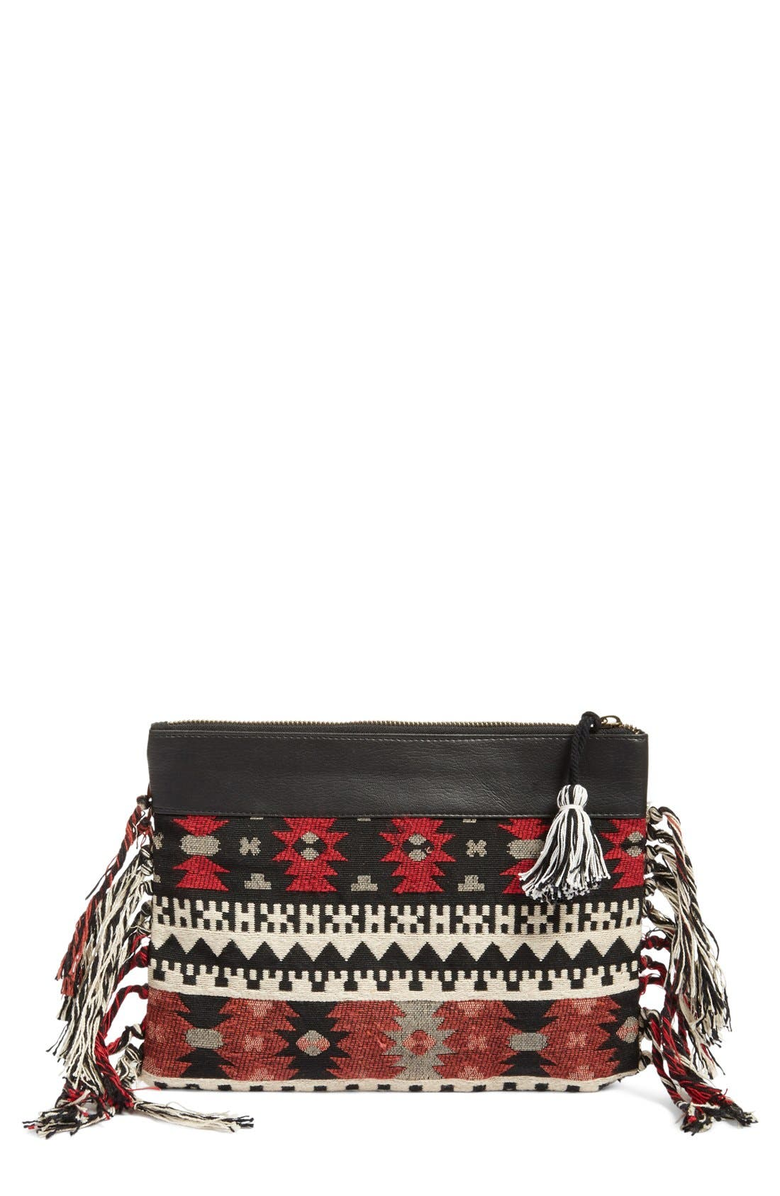 Alternate Image 1 Selected - Amuse Society 'Lynden' Jacquard Clutch