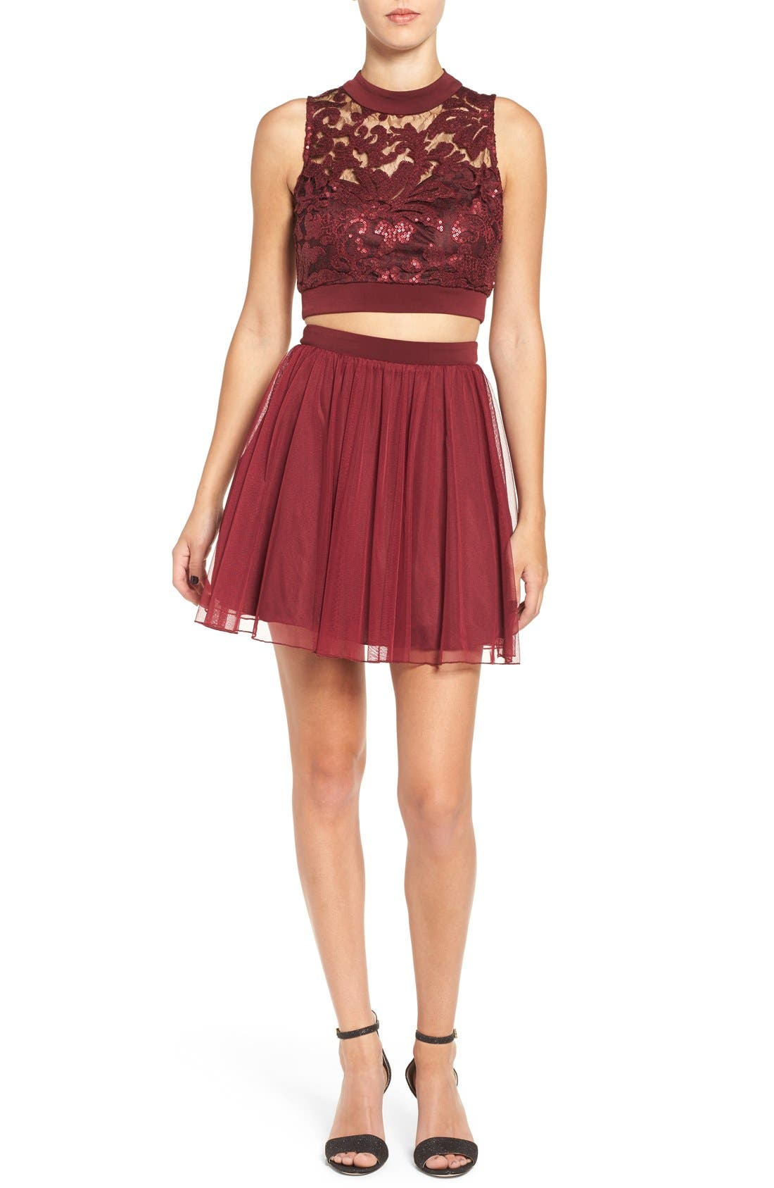 Main Image - Speechless Sequin Lace Two-Piece Dress