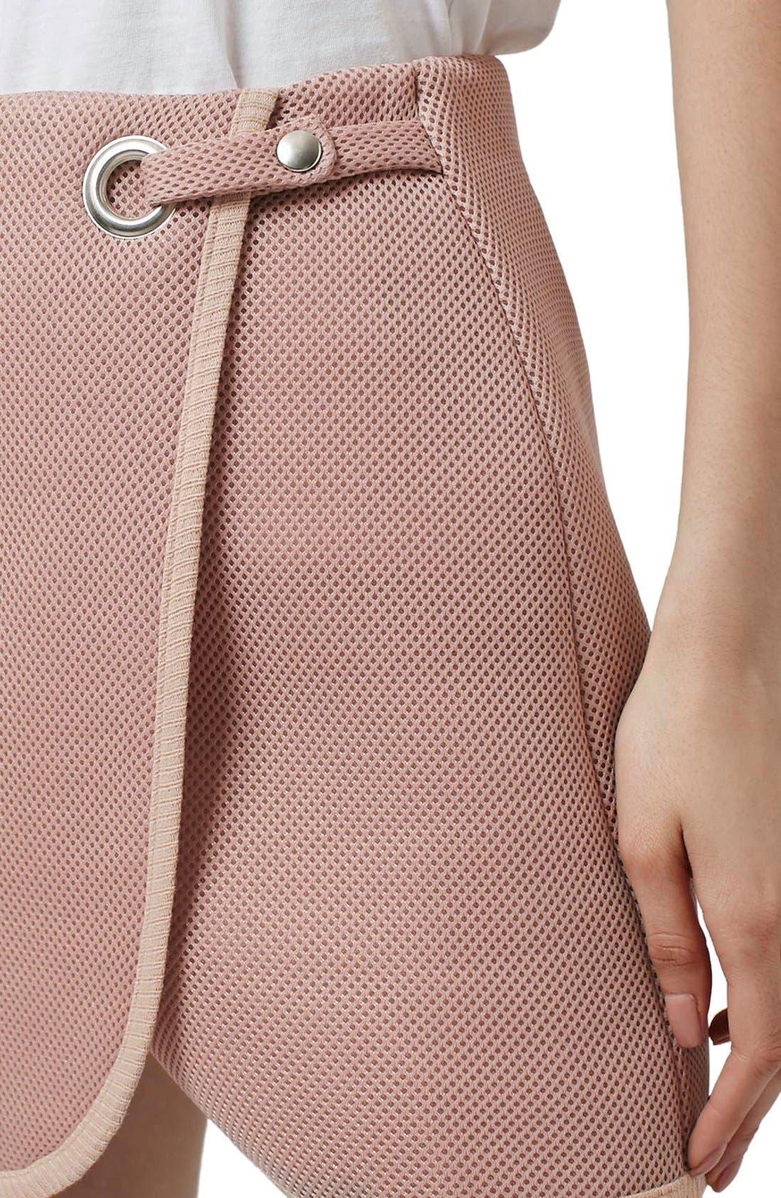 Alternate Image 5  - Topshop Airtex Wrap Miniskirt