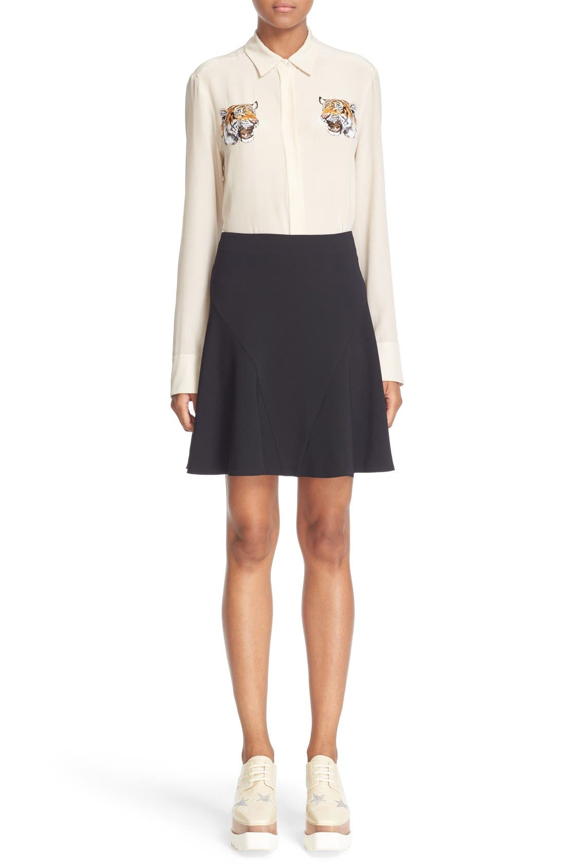 Alternate Image 6  - Stella McCartney Stretch Cady Skater Skirt