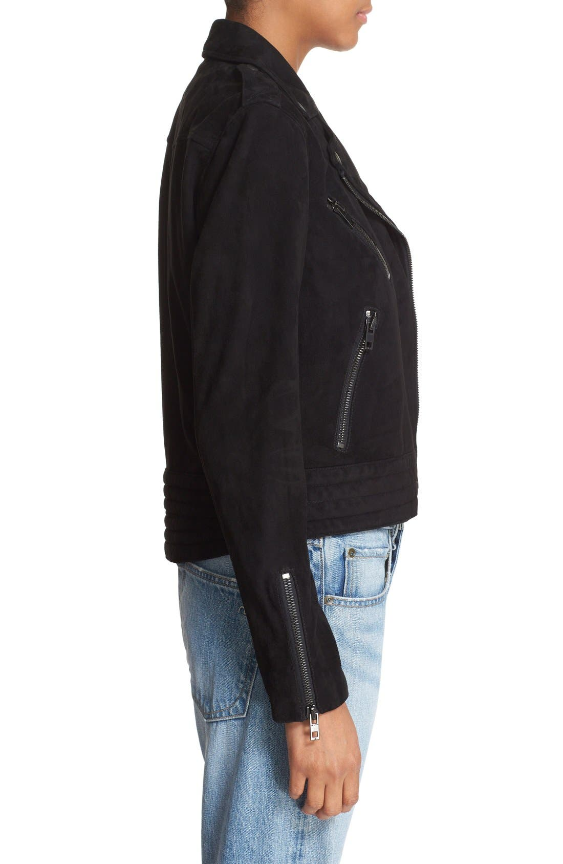 Alternate Image 3  - rag & bone/JEAN 'Mercer' Suede Jacket