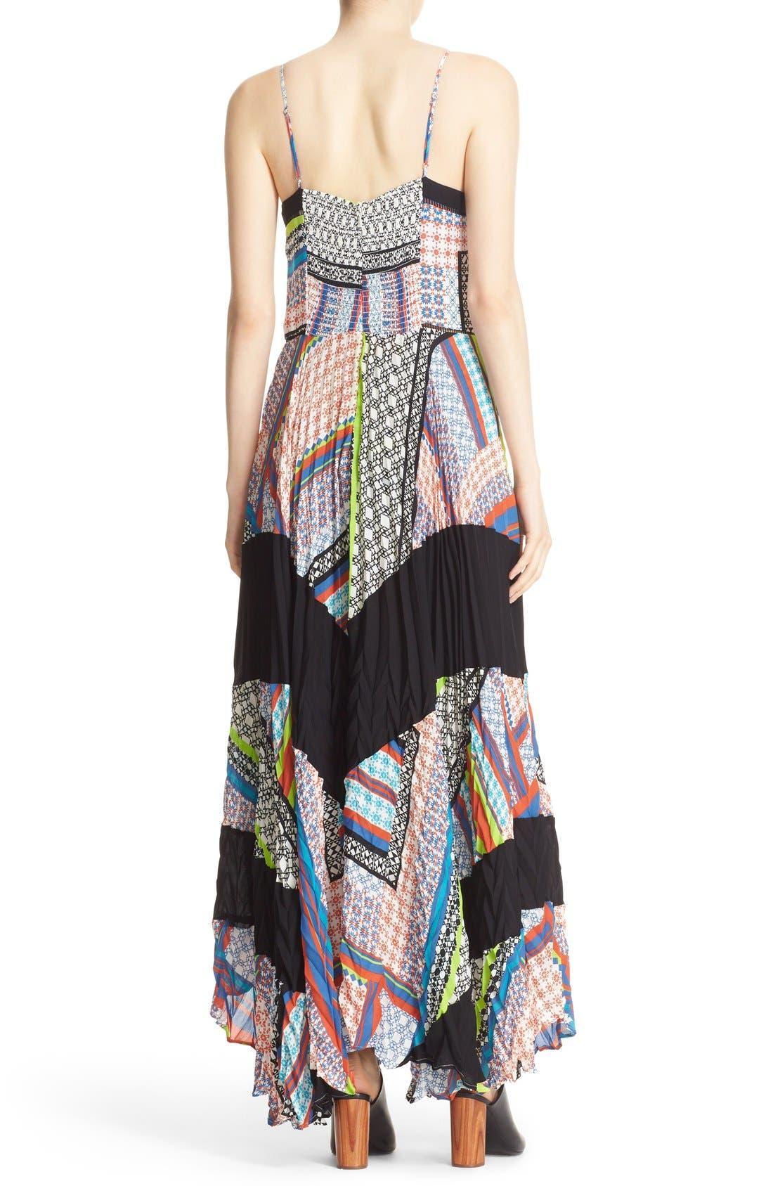 Alternate Image 2  - Parker 'Skye' Mixed Print Silk Maxi Dress