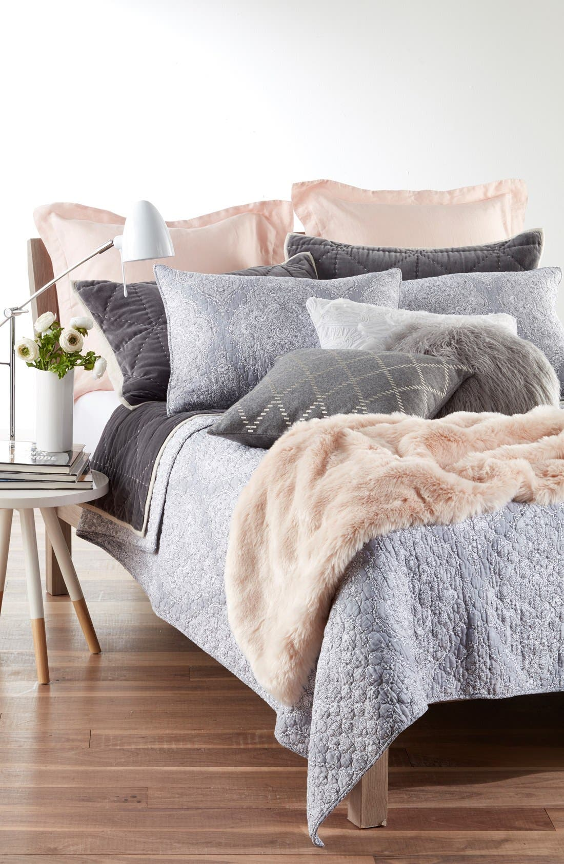 Alternate Image 2  - Nordstrom at Home Cuddle Up Faux Fur Throw Blanket