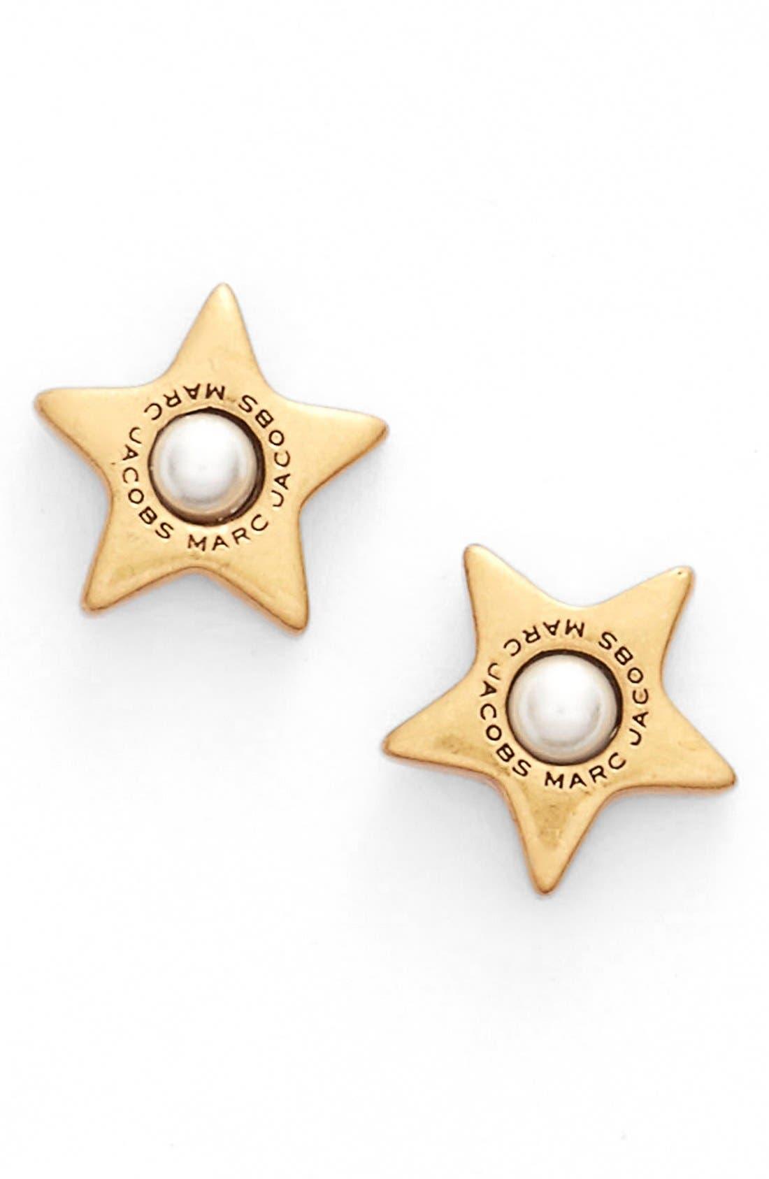Alternate Image 1 Selected - MARC JACOBS Imitation Pearl Stud Earrings