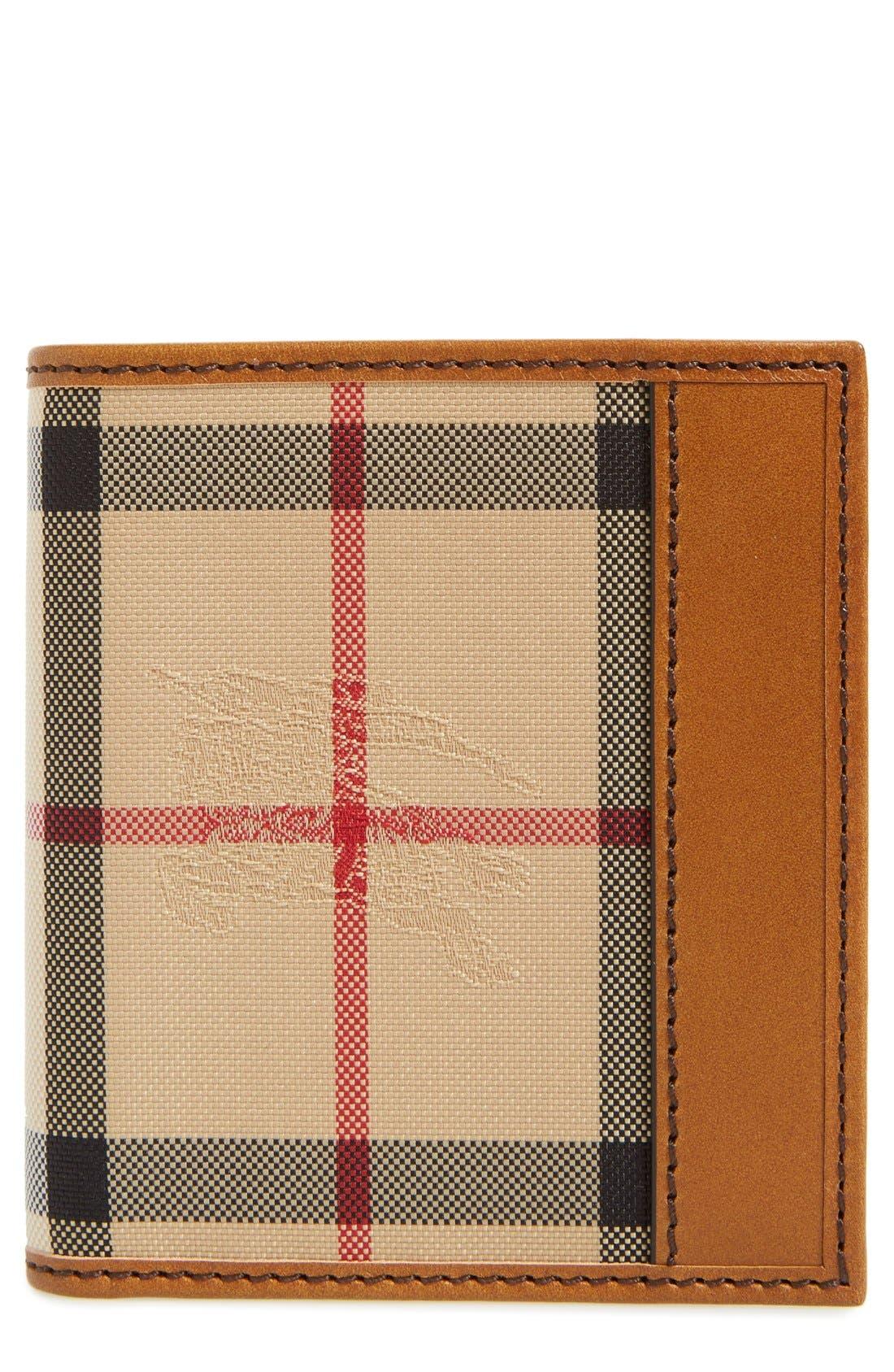 BURBERRY 'Rowan' Check Nylon Wallet