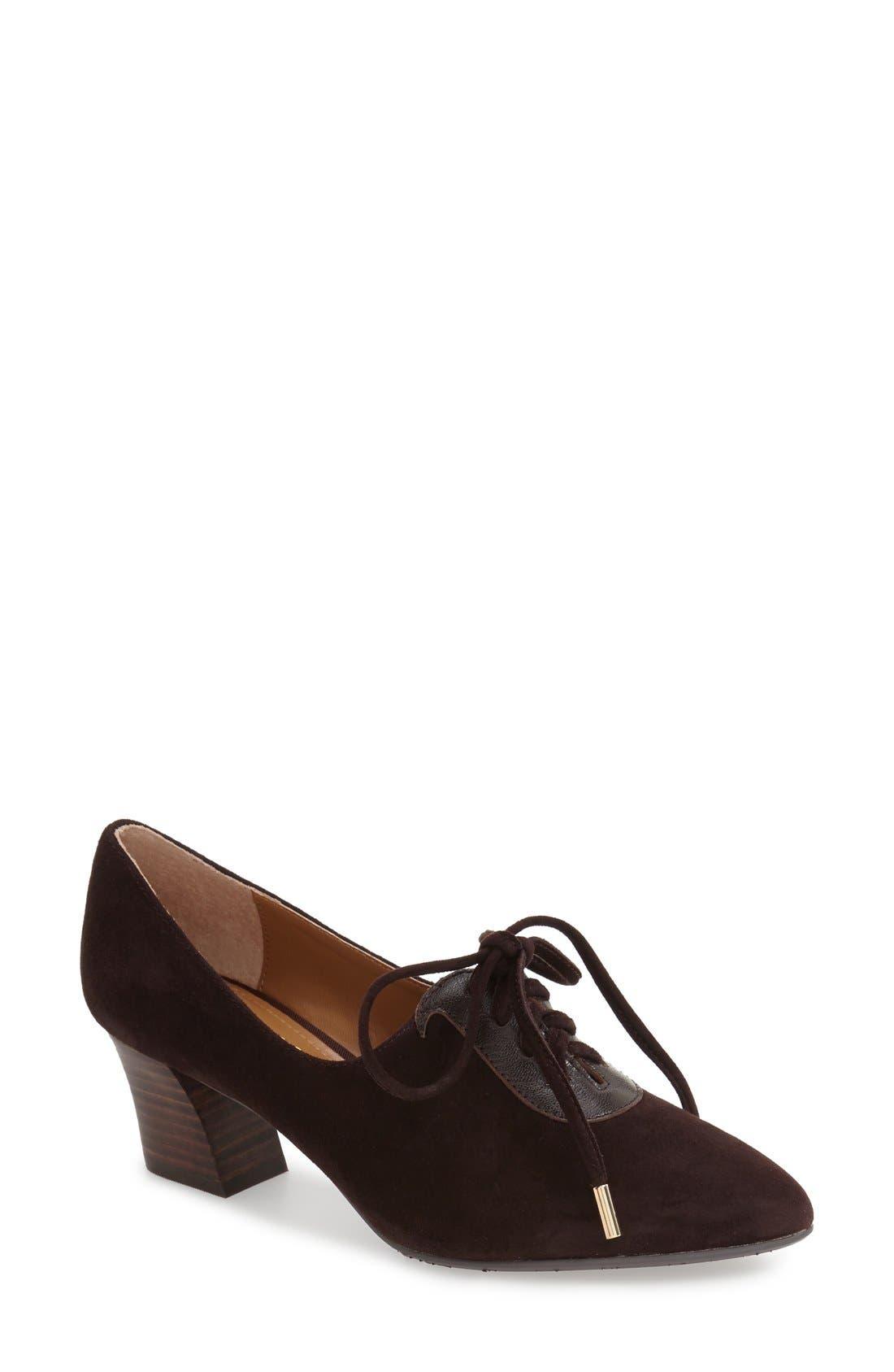 Alternate Image 1 Selected - J. Renée Ellam Pointy Toe Lace-Up Oxford (Women)