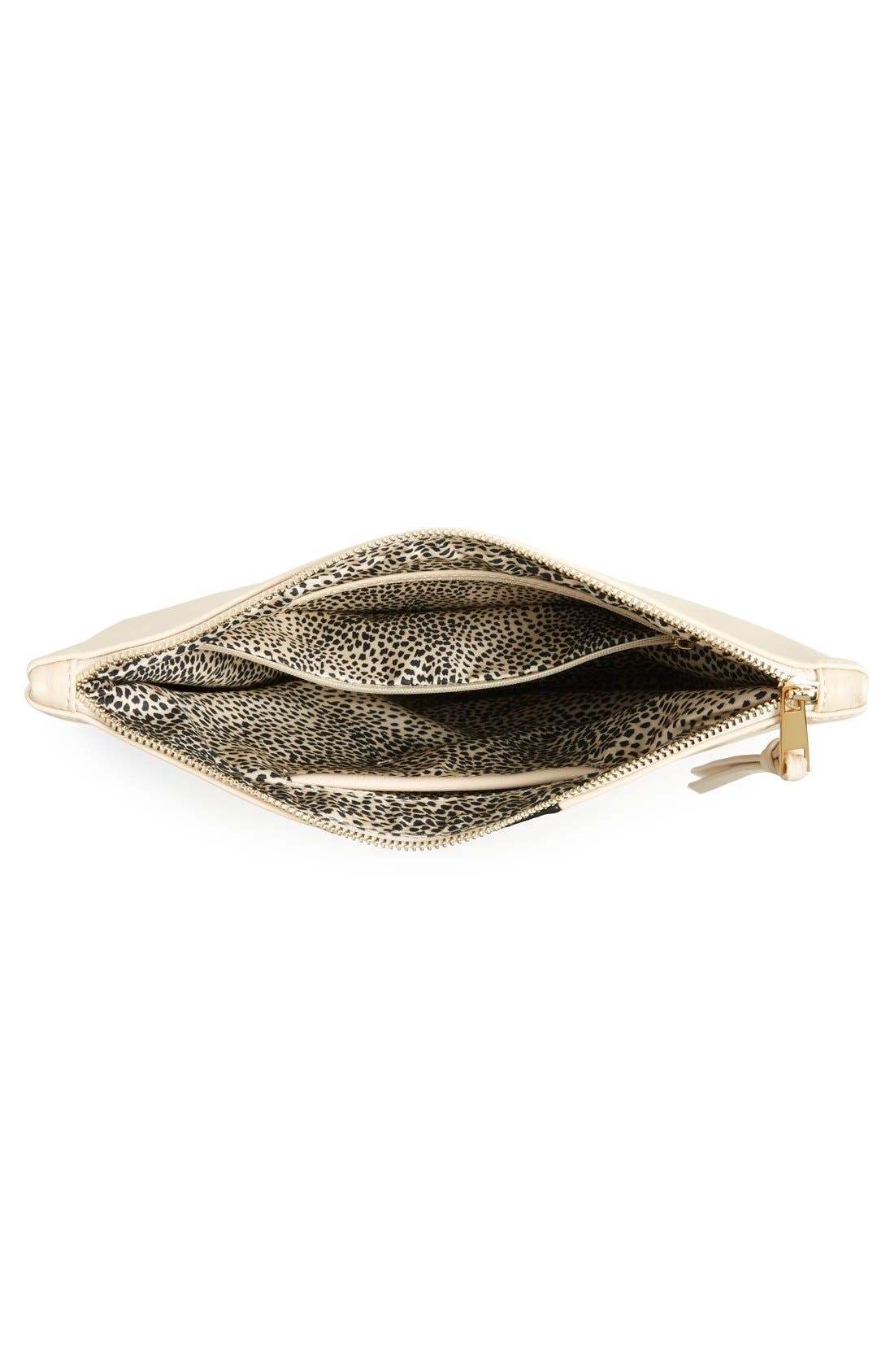 Alternate Image 4  - Sole Society 'Radcliffe' Faux Leather Clutch