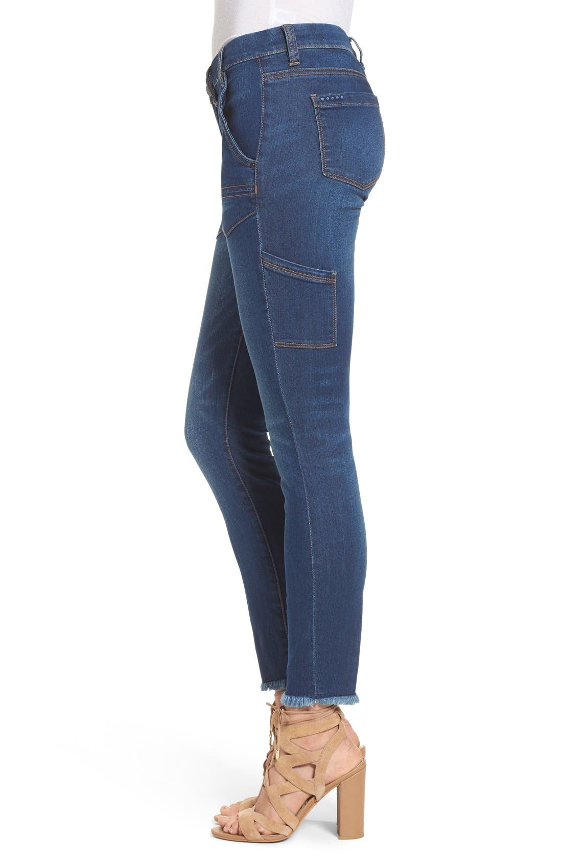 Alternate Image 3  - BLANKNYC Utility Skinny Jeans (Buffering)