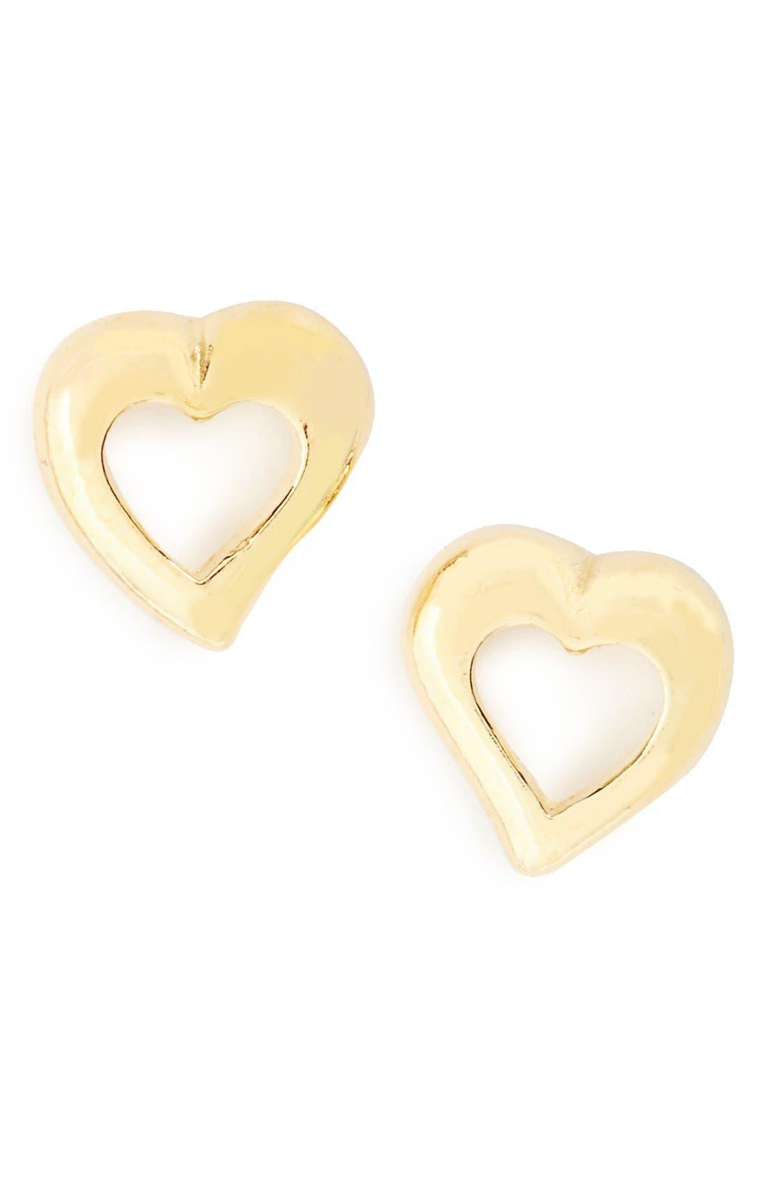 Alternate Image 1 Selected - Tomas Sterling Silver Heart Earrings (Girls)