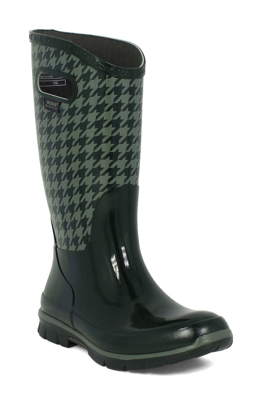 BOGS 'Berkley - Houndstooth' Waterproof Rain Boot