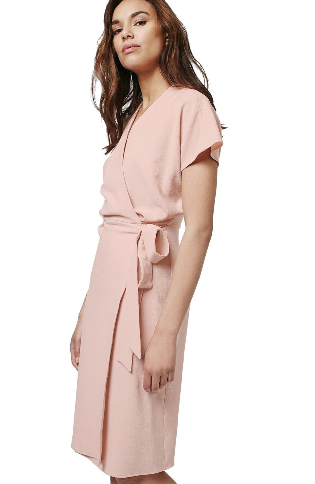 Alternate Image 3  - Topshop Crepe Wrap Dress