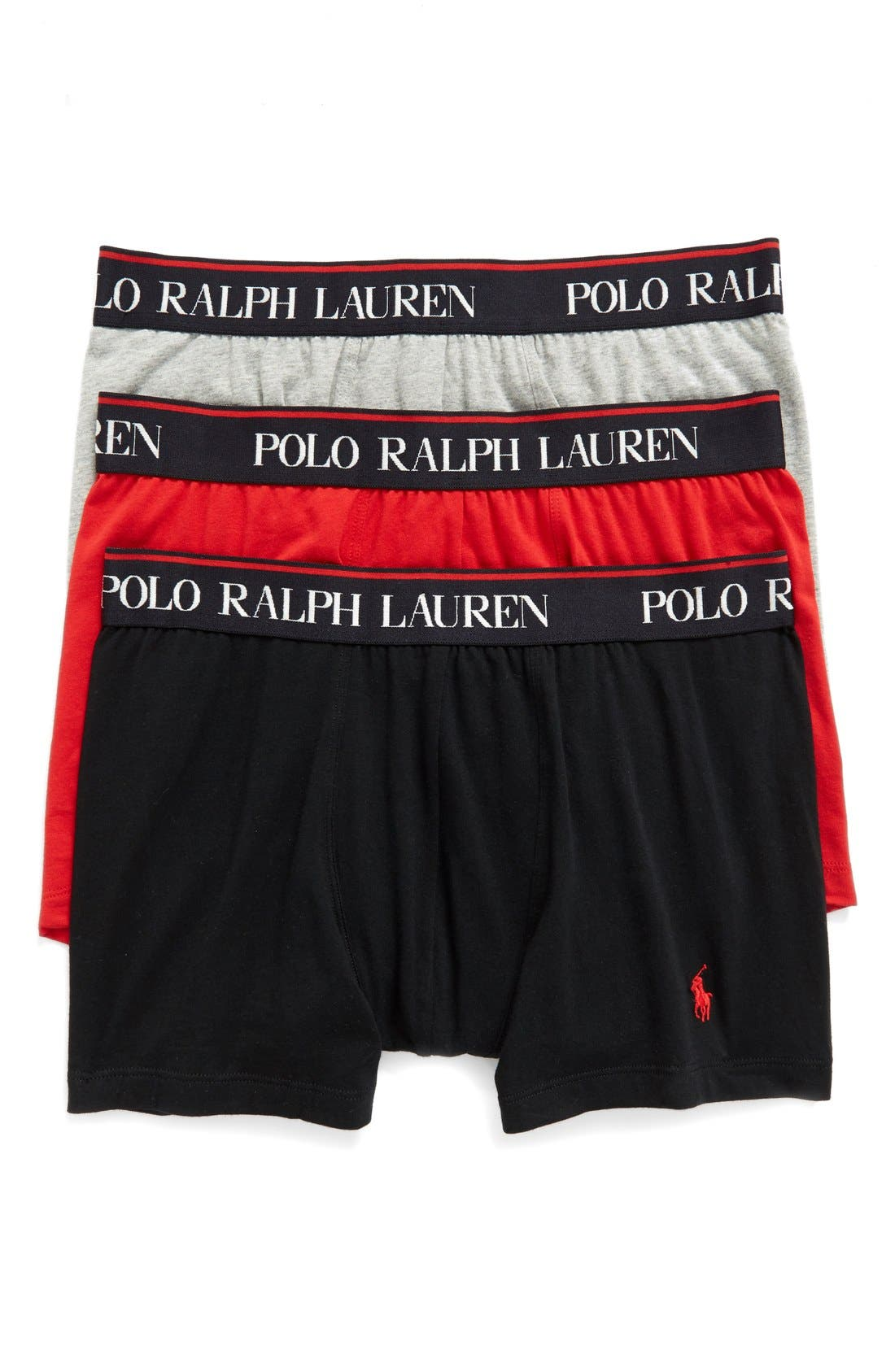 Polo Ralph Lauren 3-Pack Stretch Cotton Boxer Briefs