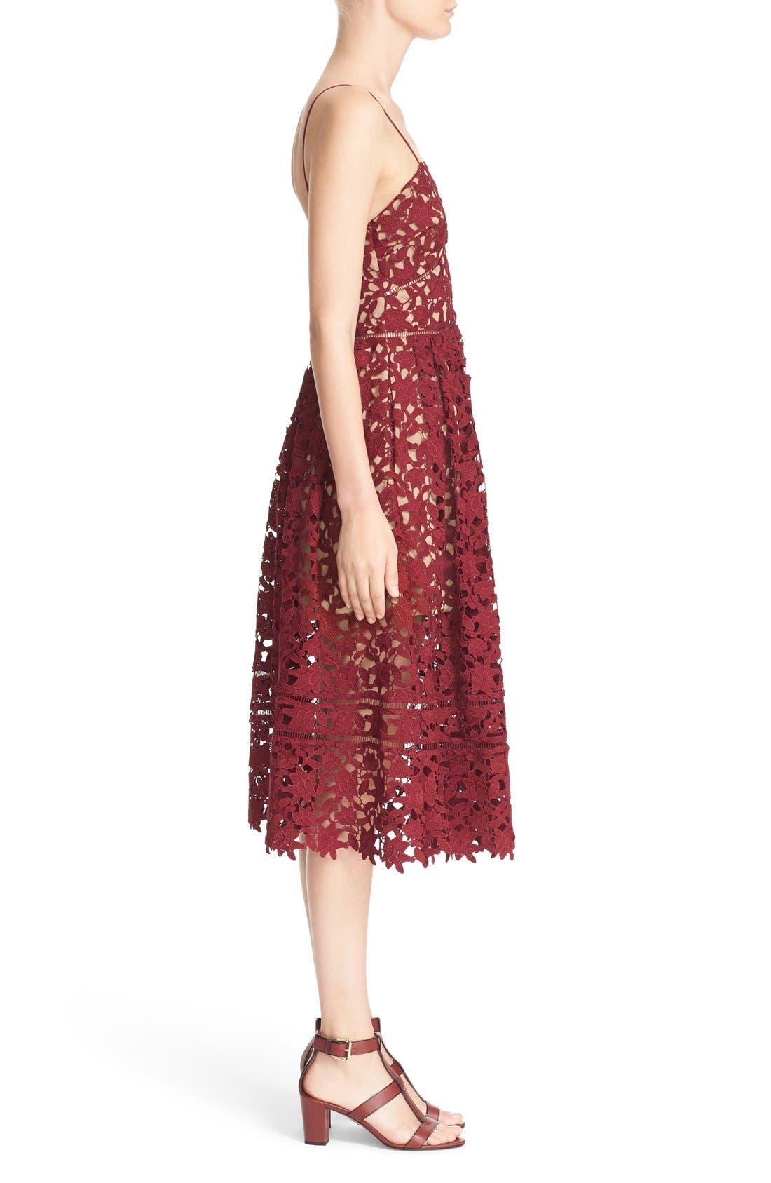 Alternate Image 3  - Self-Portrait 'Azaelea' Lace Fit & Flare Dress