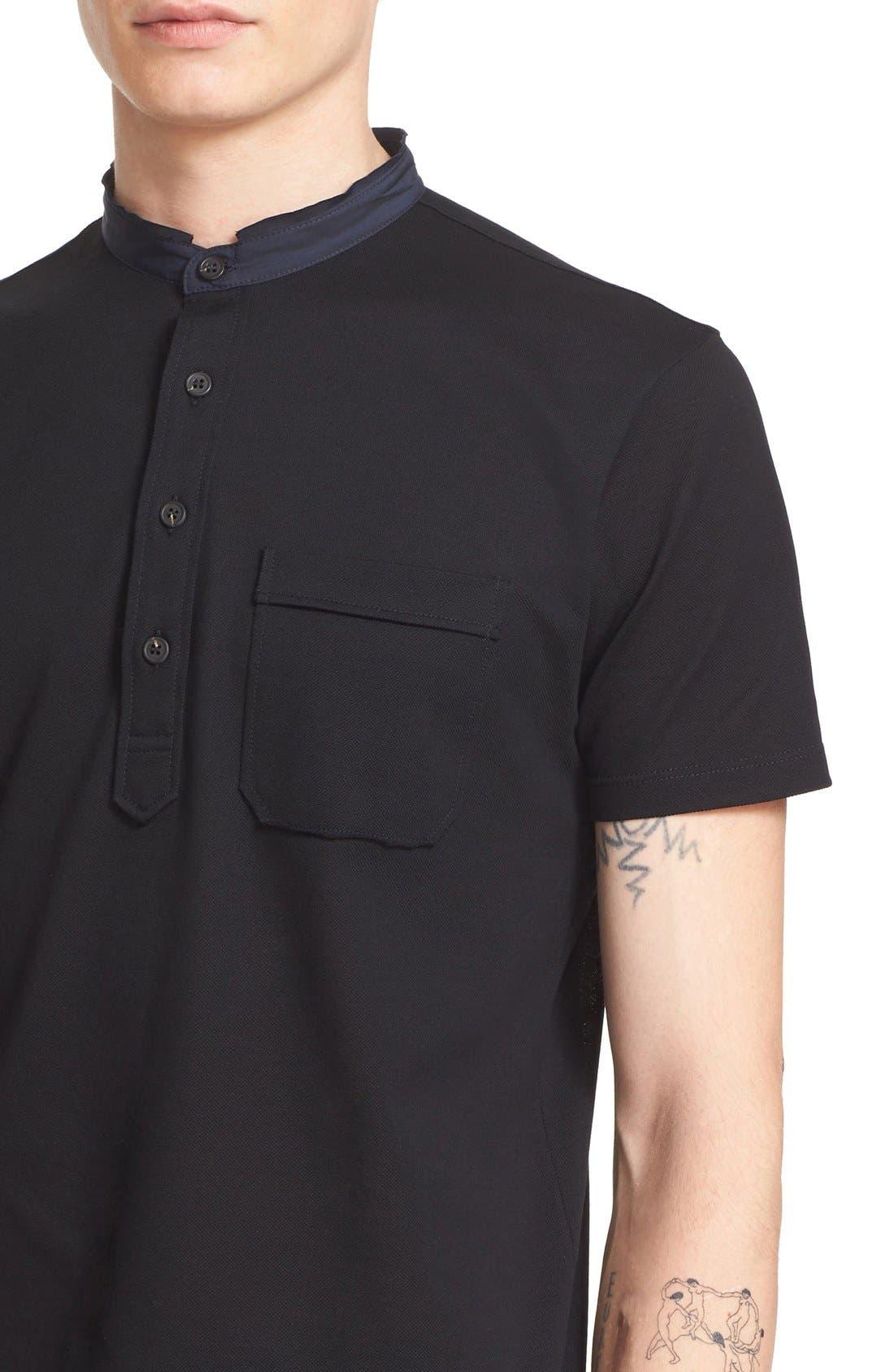 Alternate Image 4  - Lanvin Band Collar Cotton Piqué Polo