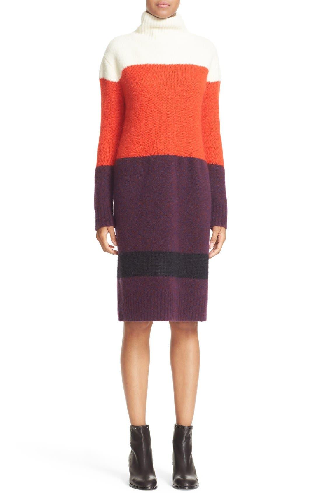 Main Image - rag & bone 'Britton' Stripe Wool Blend Sweater Dress