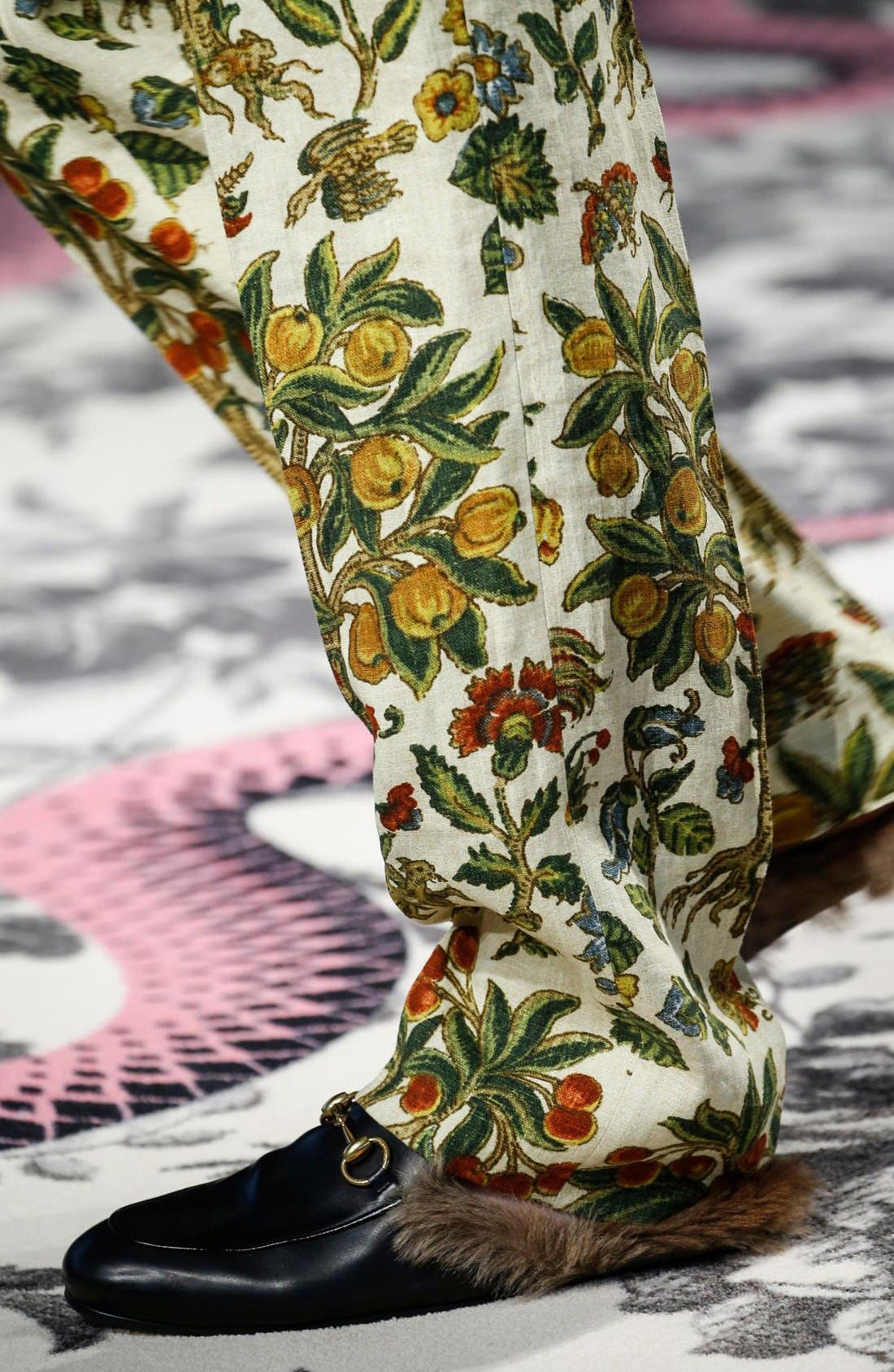 Alternate Image 5  - Gucci Princetown Genuine Shearling Loafer Mule (Women)