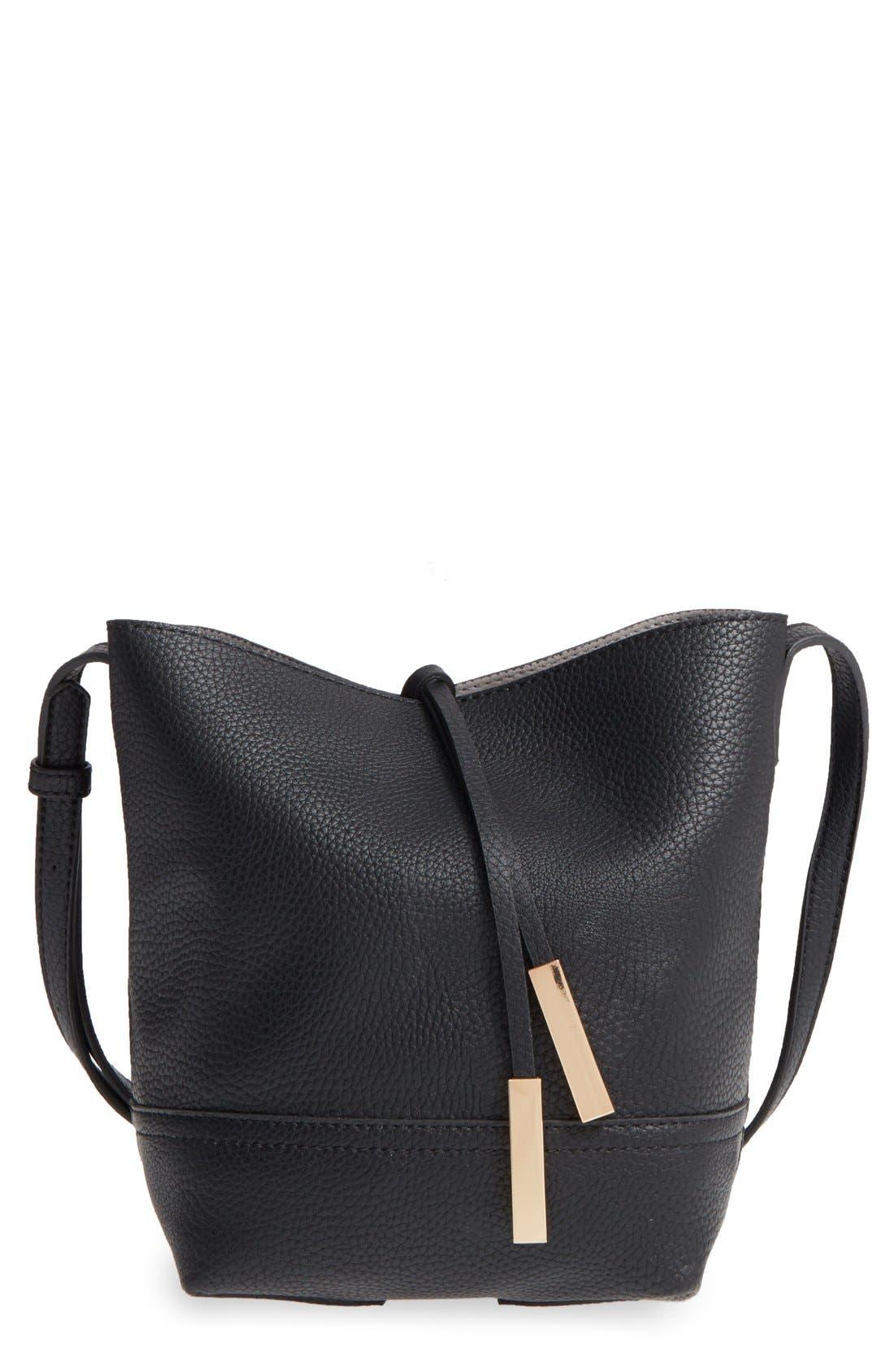Main Image - Street Level Faux Leather Bucket Bag