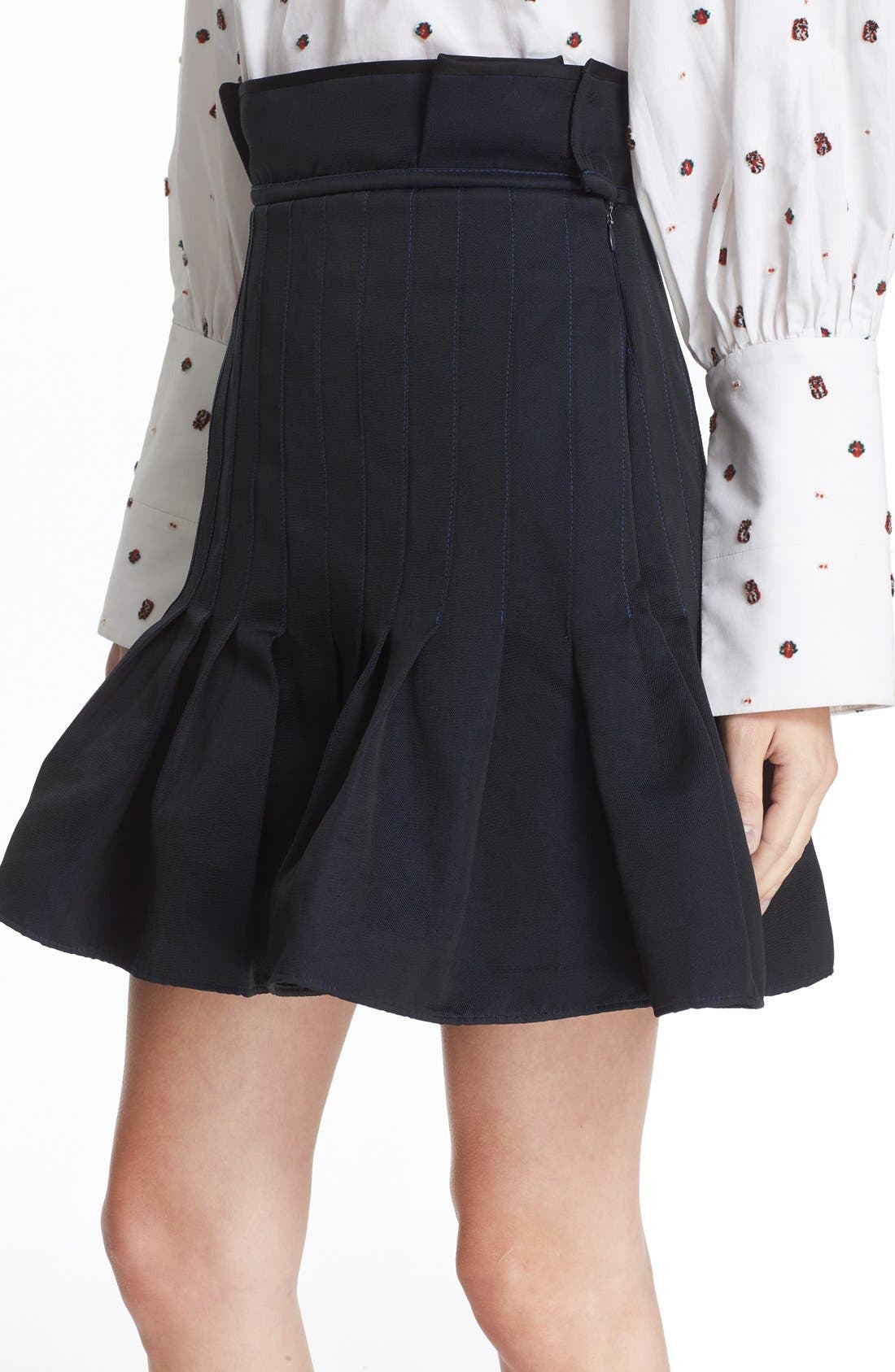 Alternate Image 6  - ELLERY 'Kyoto' Pleated Miniskirt