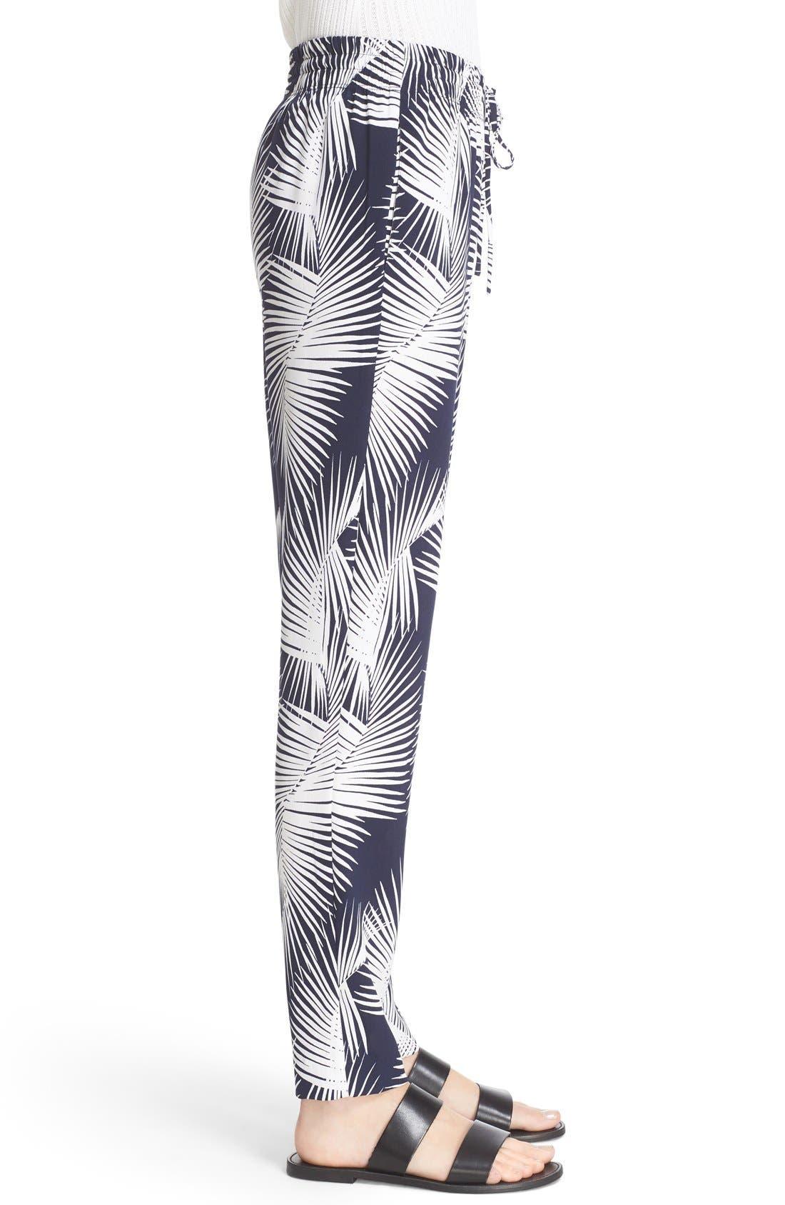 Alternate Image 6  - St. John Sport Collection Palm Print Stretch Silk Pants