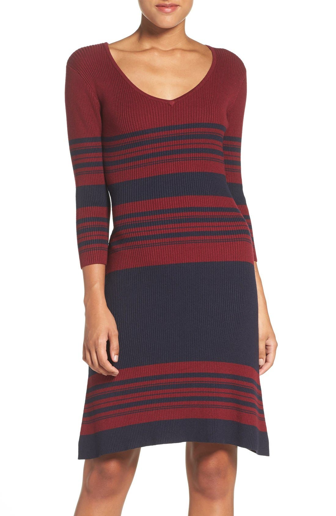 Fraiche by J Stripe Body-Con Sweater Dress