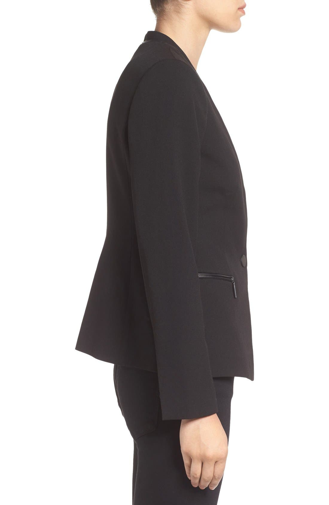 Alternate Image 3  - Ivanka Trump Faux Leather Trim Suit Jacket