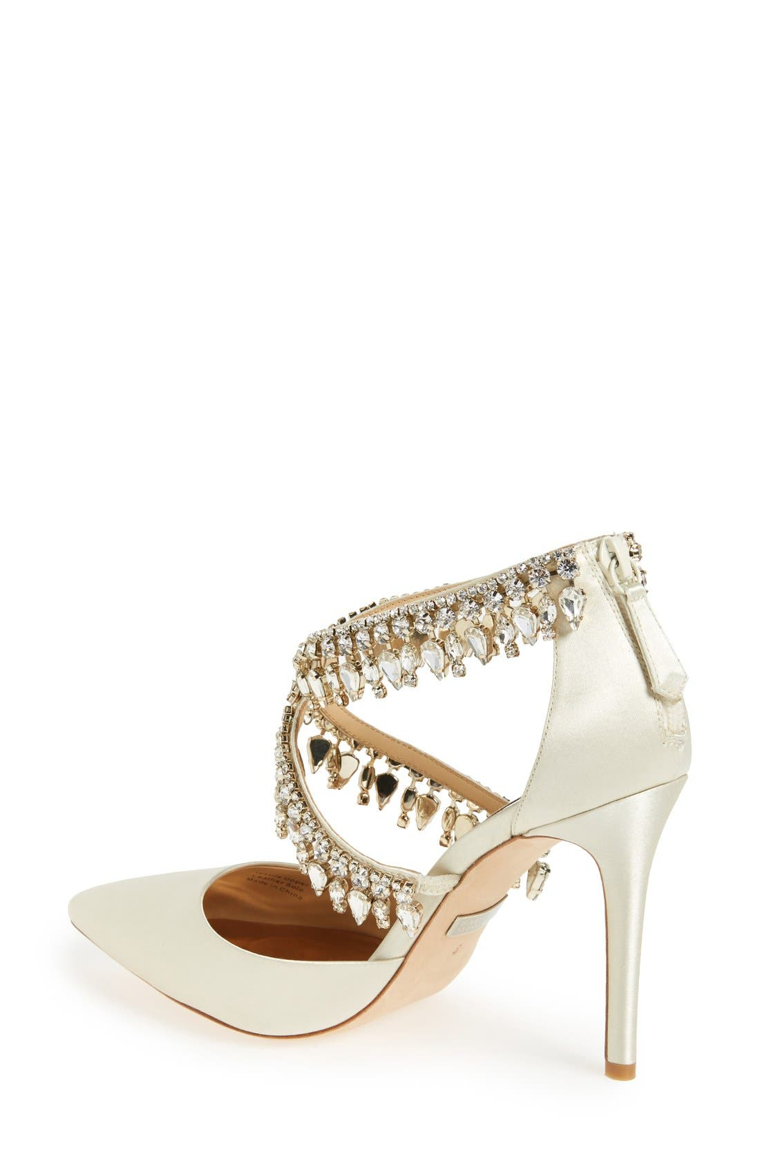 Alternate Image 2  - Badgley Mischka 'Glamorous' Crystal-Embellished Pointy Toe Pump (Women)